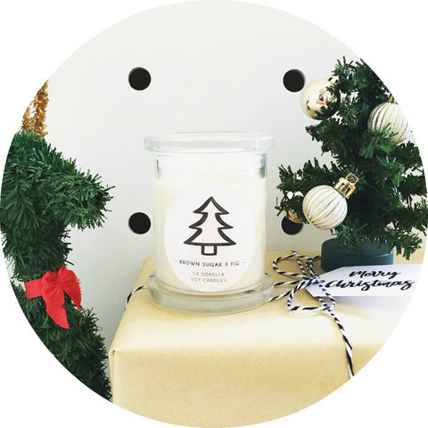Christmas Tree Candles / Brown Sugar & Fig