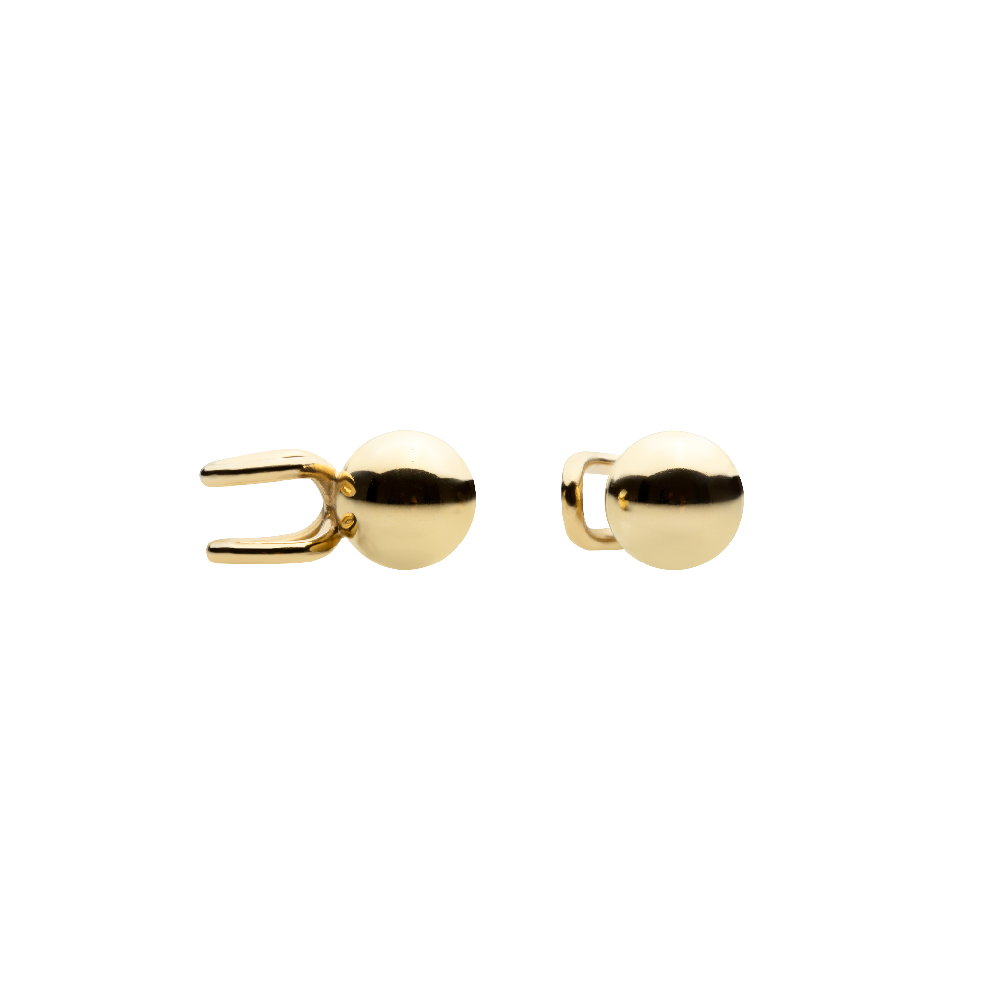 Ball Gold Ear Cuffs - 14K