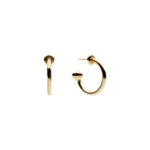 Ball Hoop Gold Earrings