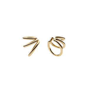 Bulky Spine Gold Ear Cuffs