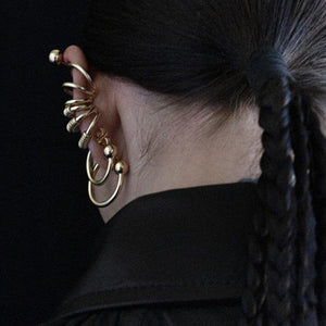 Petite Ball Hoop Gold Earrings