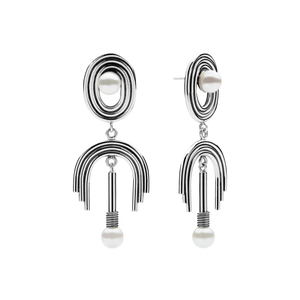 Supersonic Big Pearl Earrings