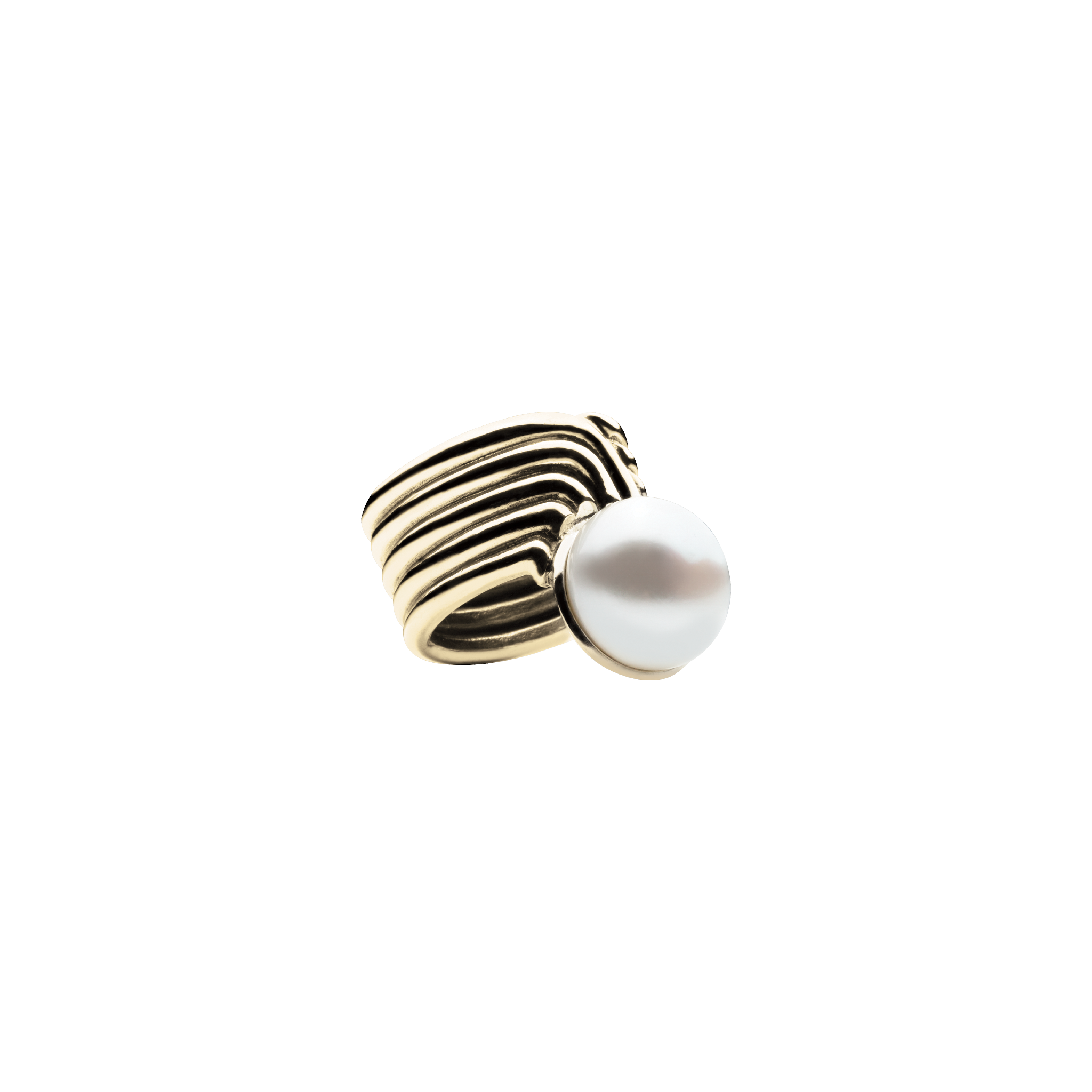 Supersonic Pearl Gold Ring