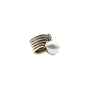 Supersonic Pearl Gold Ring - 14K