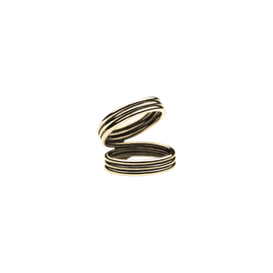 Triple Mini Viper Gold Ring
