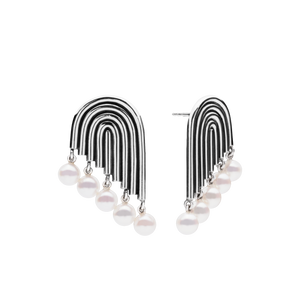 Supersonic Multiple Pearl Earrings