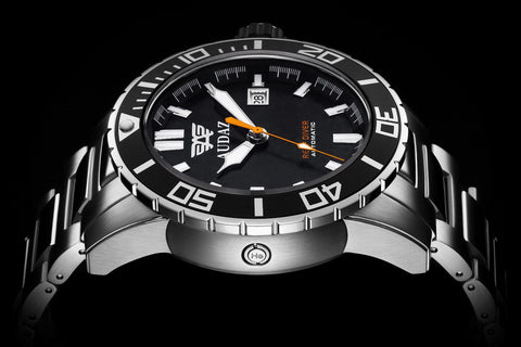 design brand luminous auto watches automatic watch loreo steel diver mechanical date item men waterproof