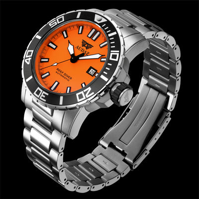 REEF DIVER WATCH ORANGE DIAL