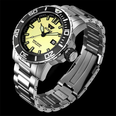 Reef Diver Watch Full Lume Dial