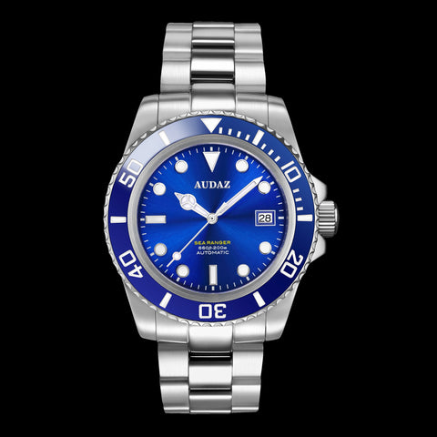 Blue Dial Dive Watch with Automatic Movement , Sapphire Crystal and Ceramic Bezel
