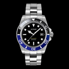 Dive Watch with Ceramic Bezel ( Black / Blue ) Batman Style