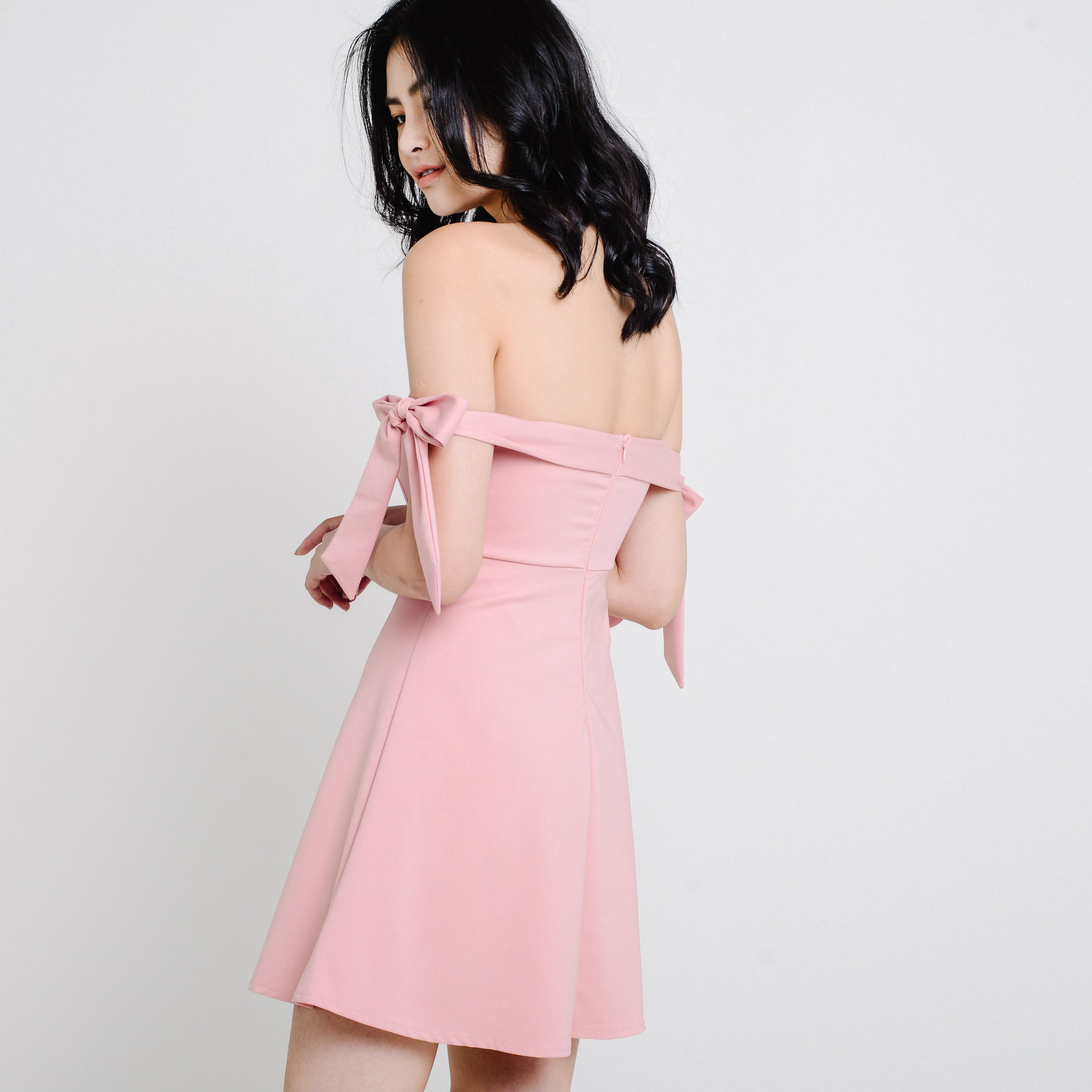 Kiara Bow Dress - Pink