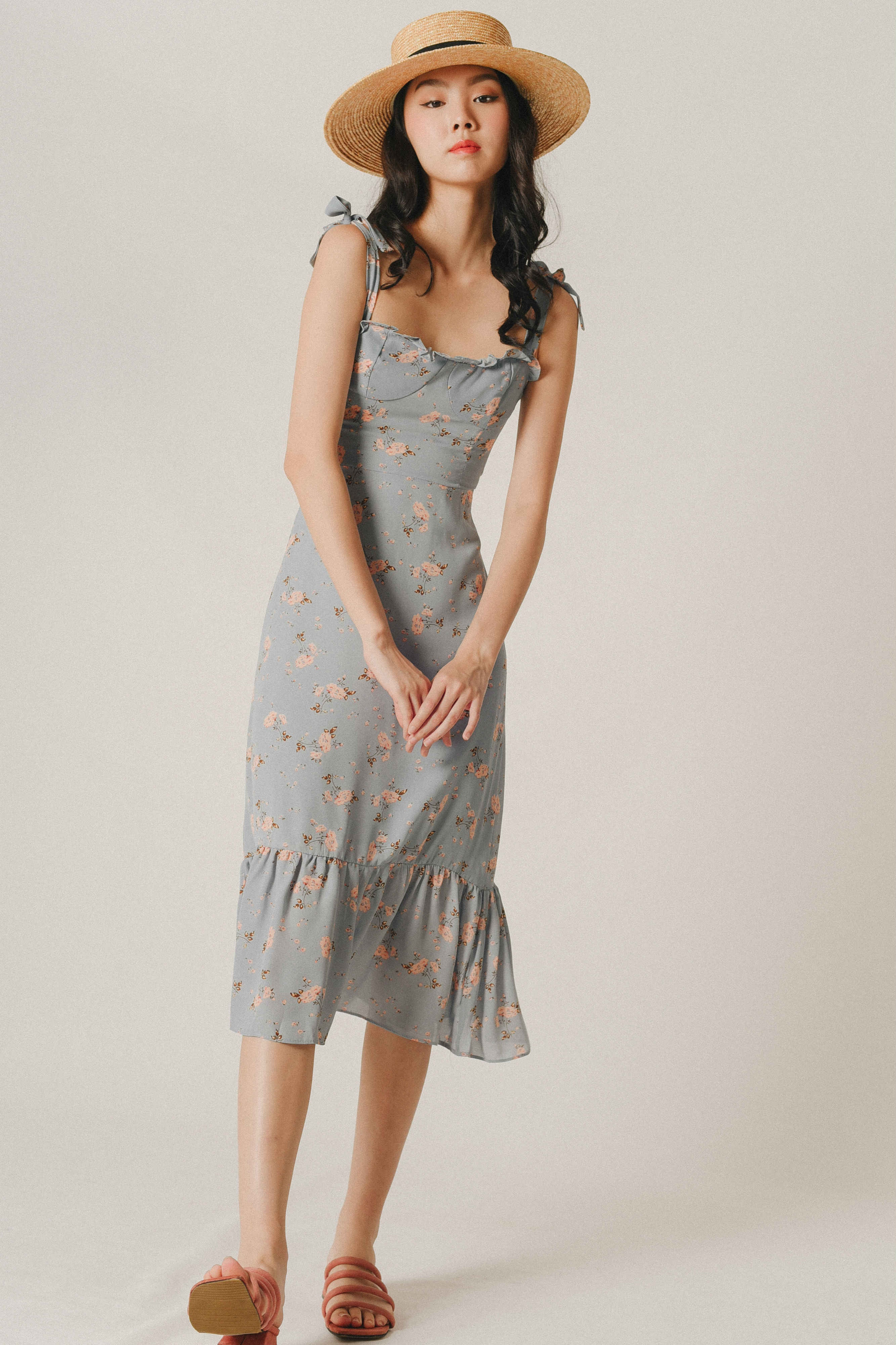 Rebecca Printed Tie Dress