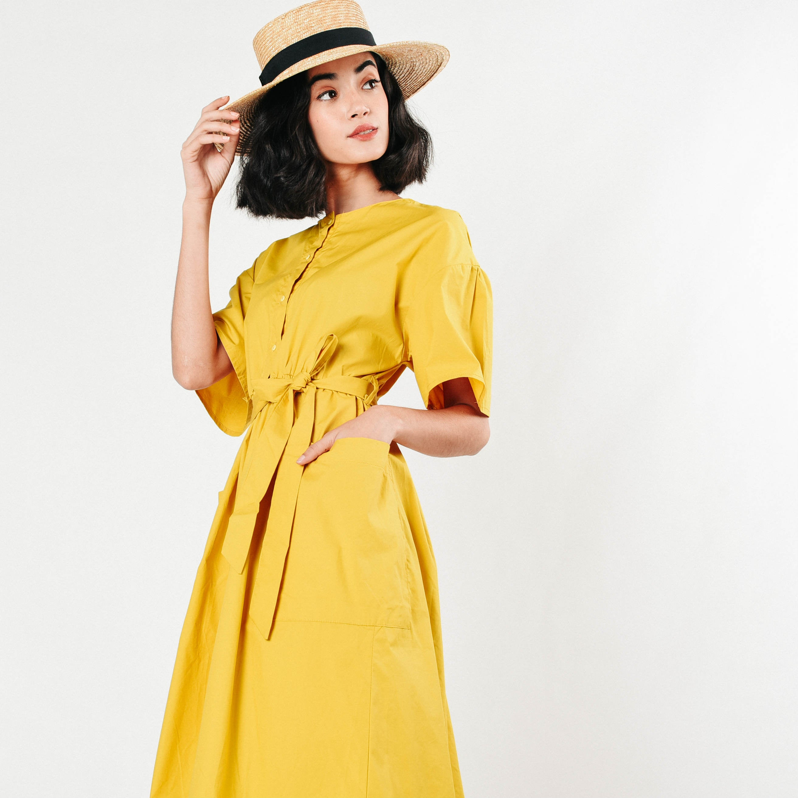 [BACKORDER] Gretchen Yellow Midi Dress