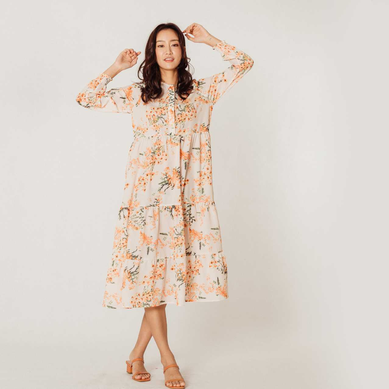 Juliette Print Midi Dress