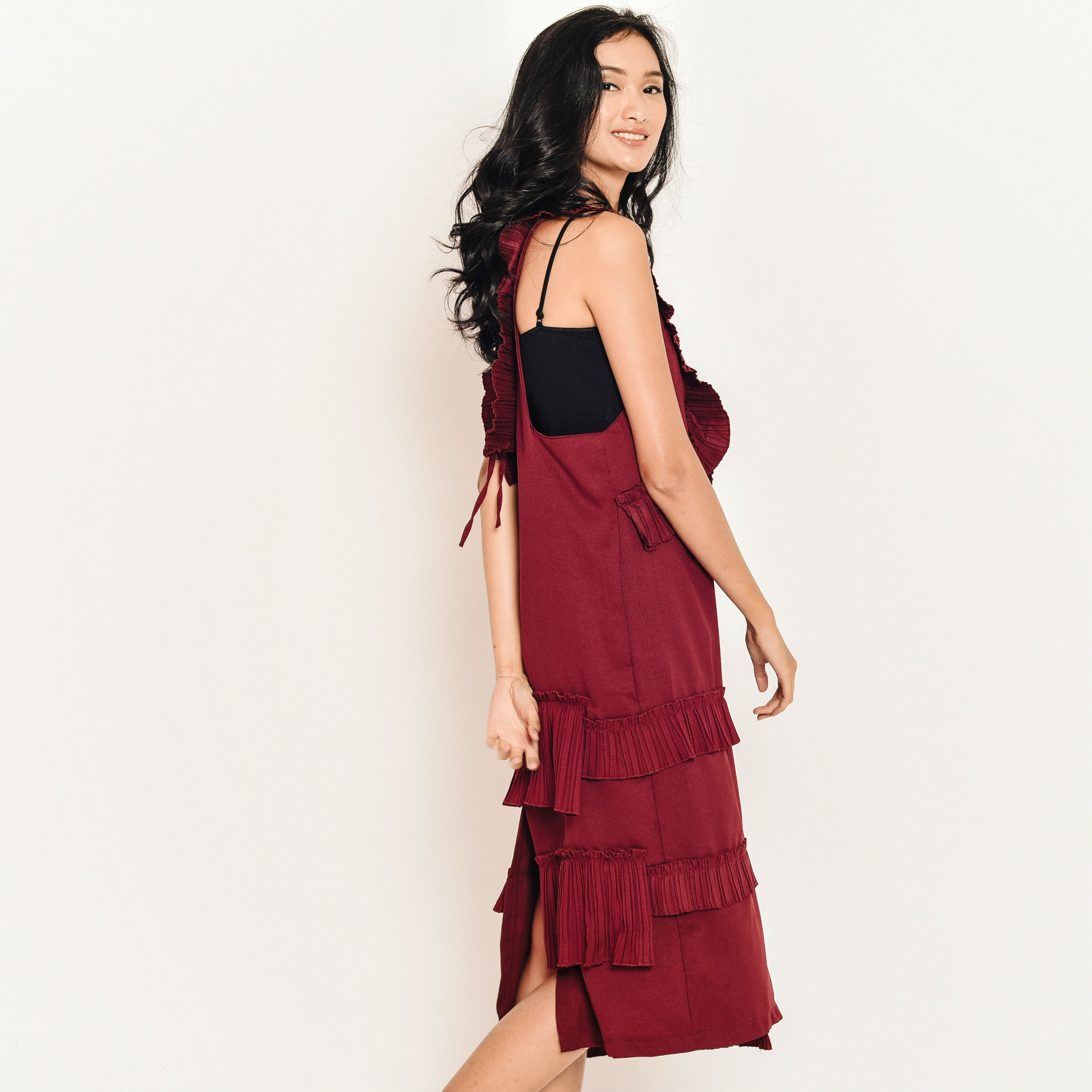 Ina Layered Pleated Dress