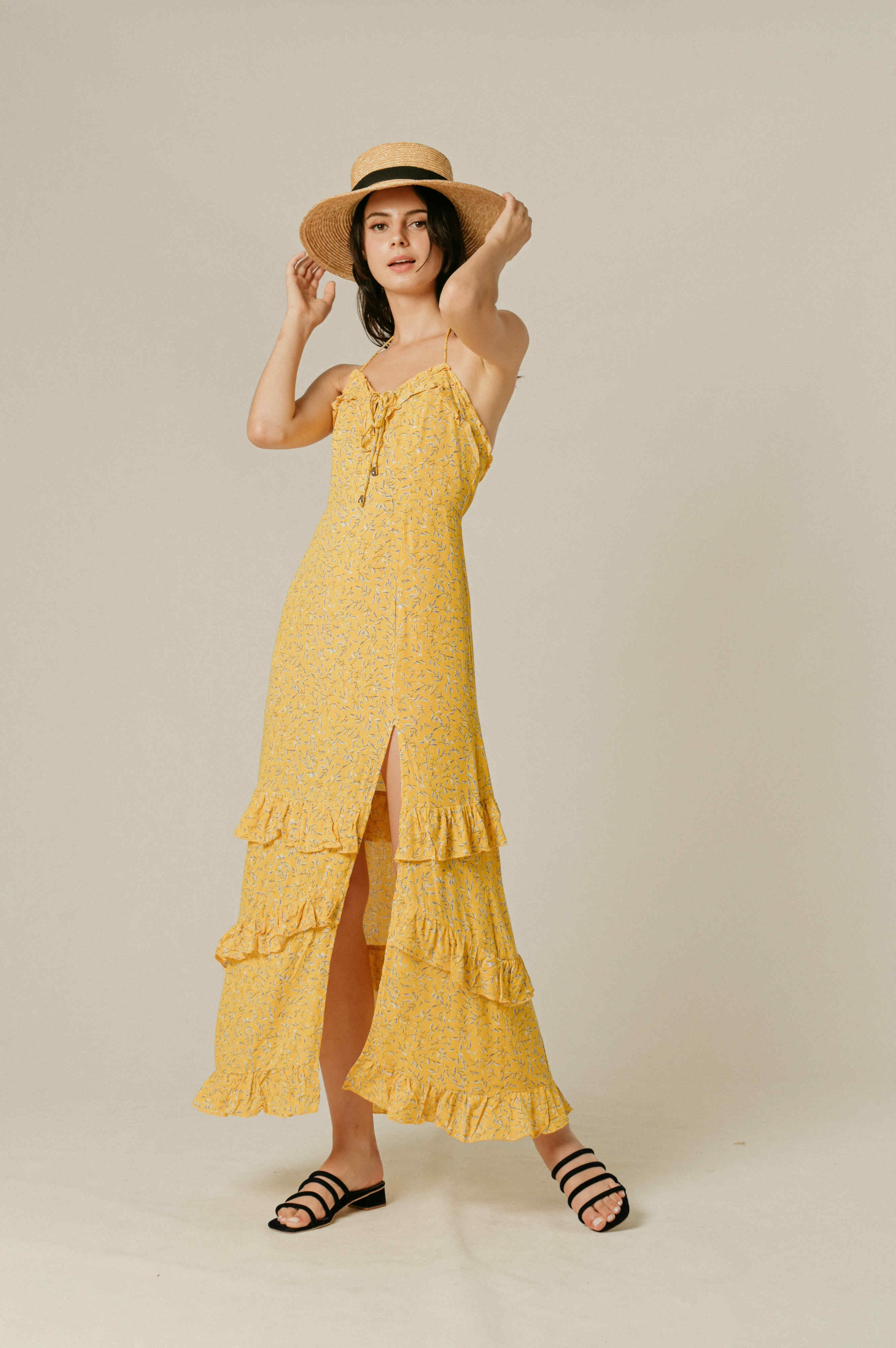 Iora Ruffle Maxi Dress