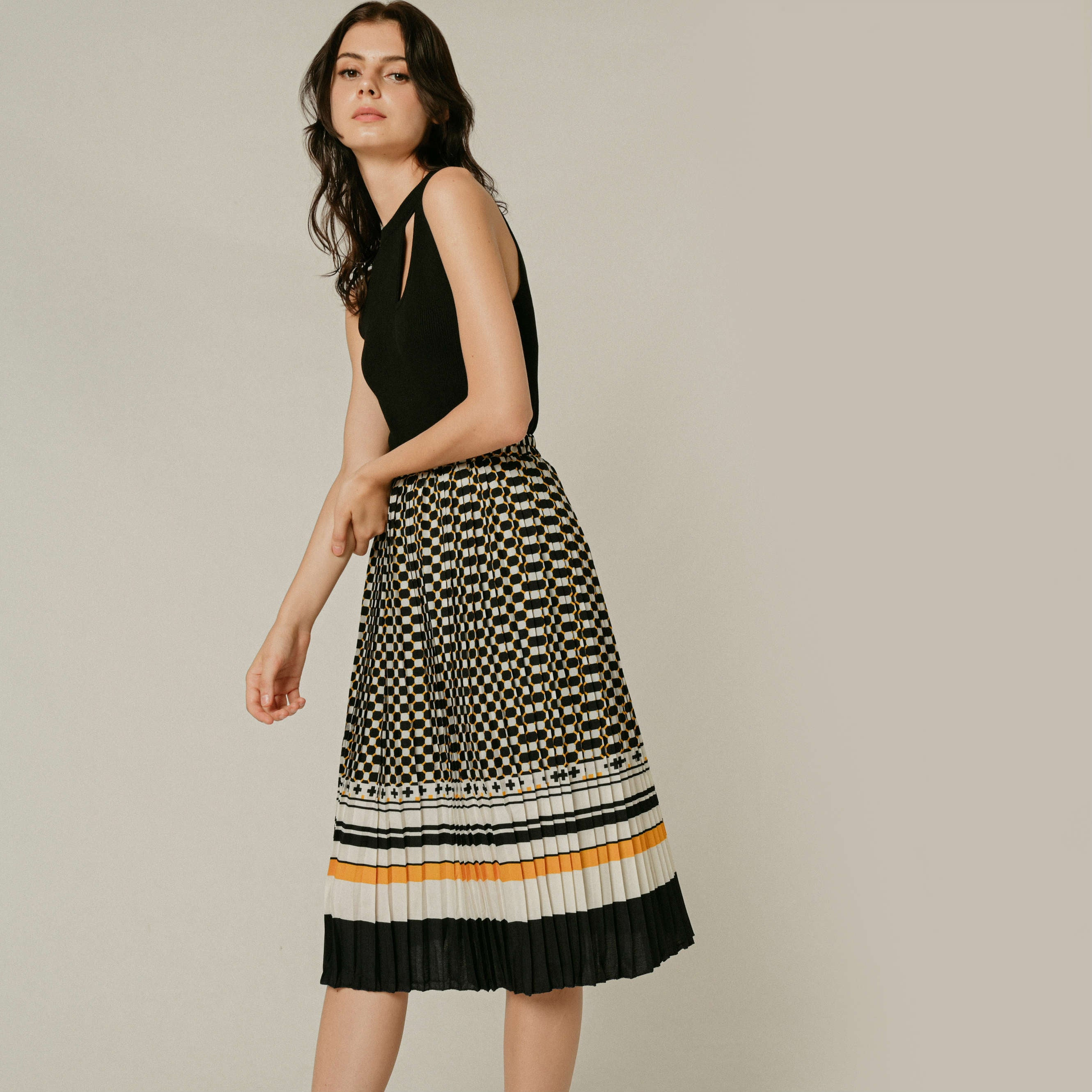 Scottie Printed Skirt