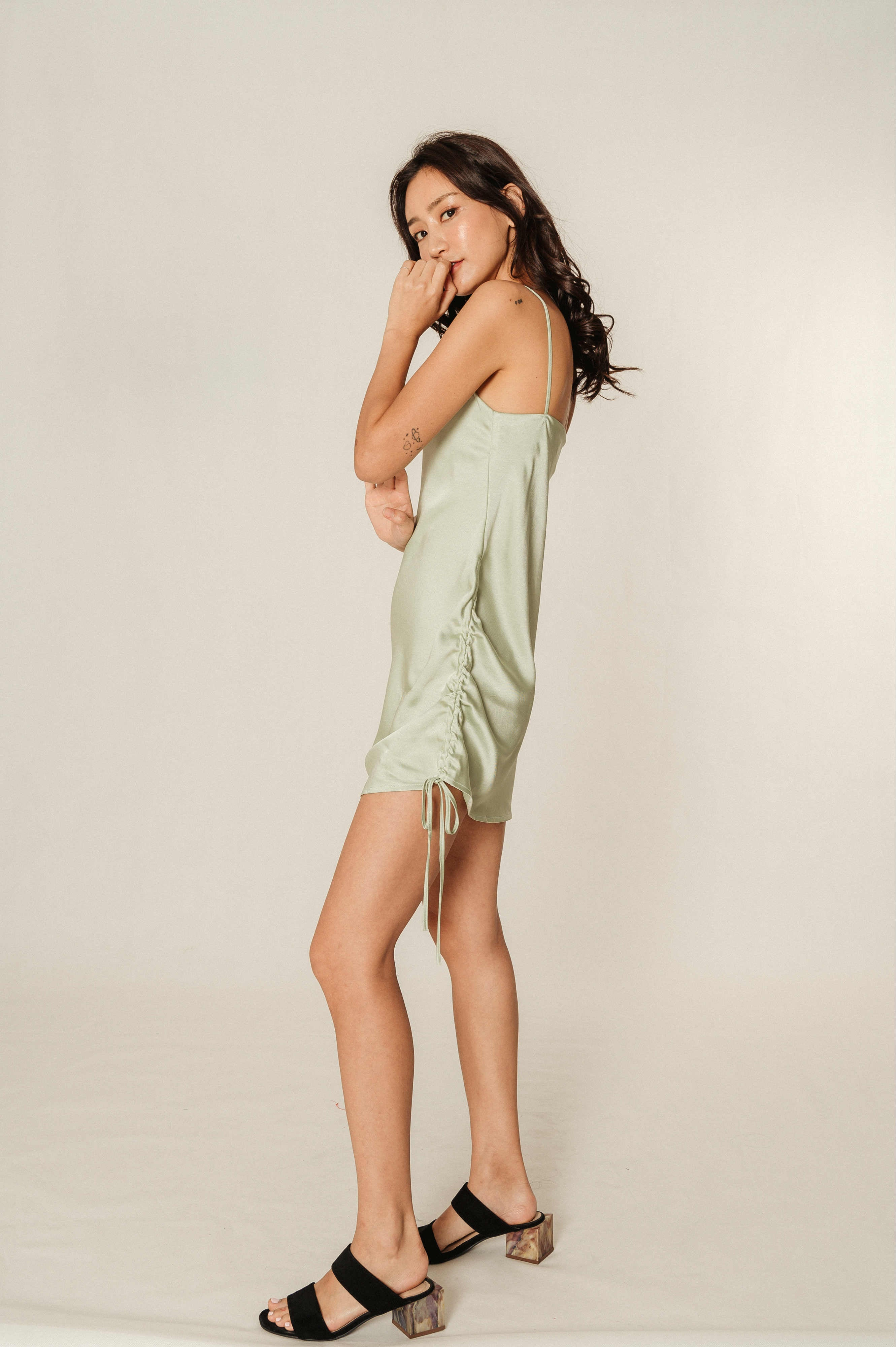 Ima Pastel Green Slip-On Dress
