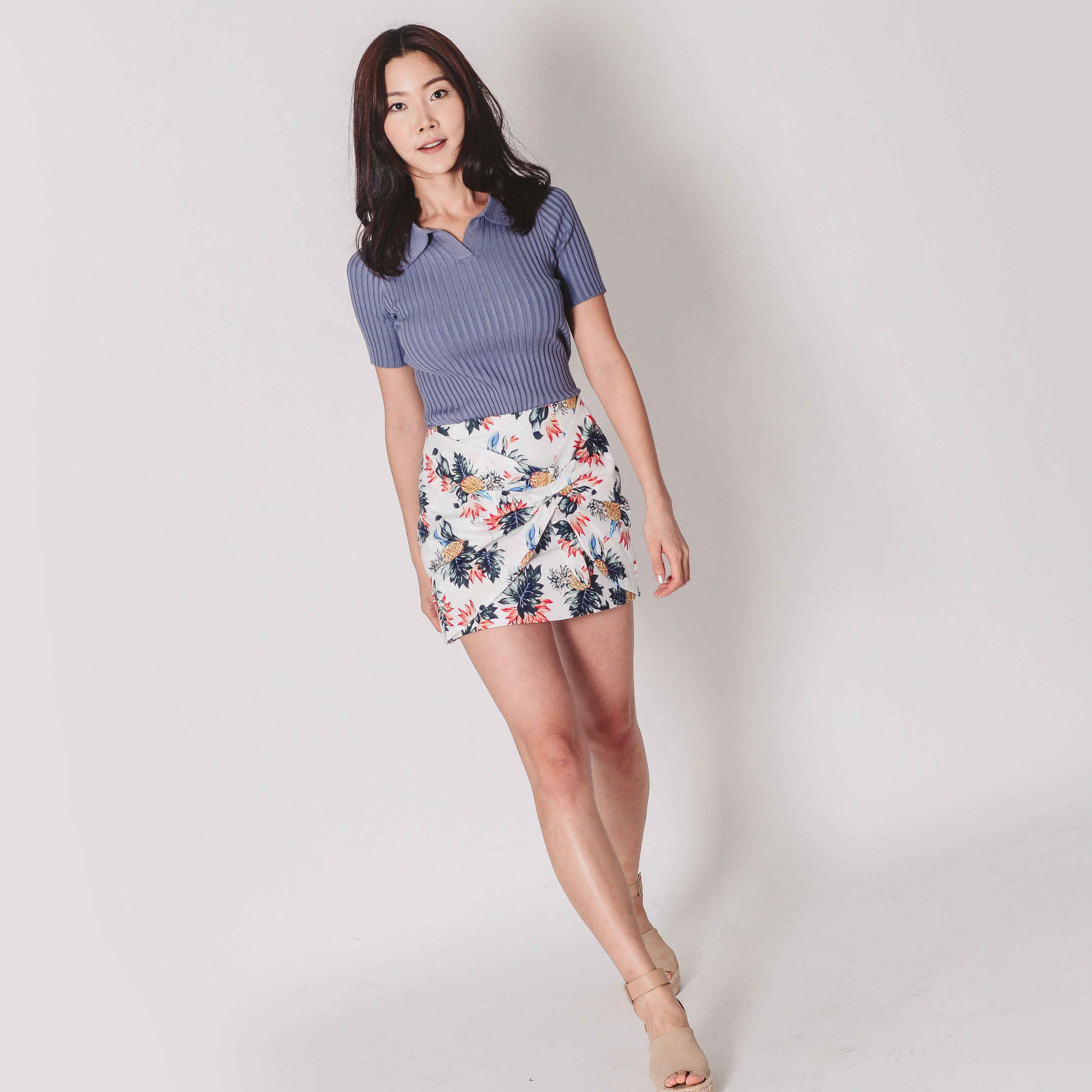 Patio Floral Mini Skirt