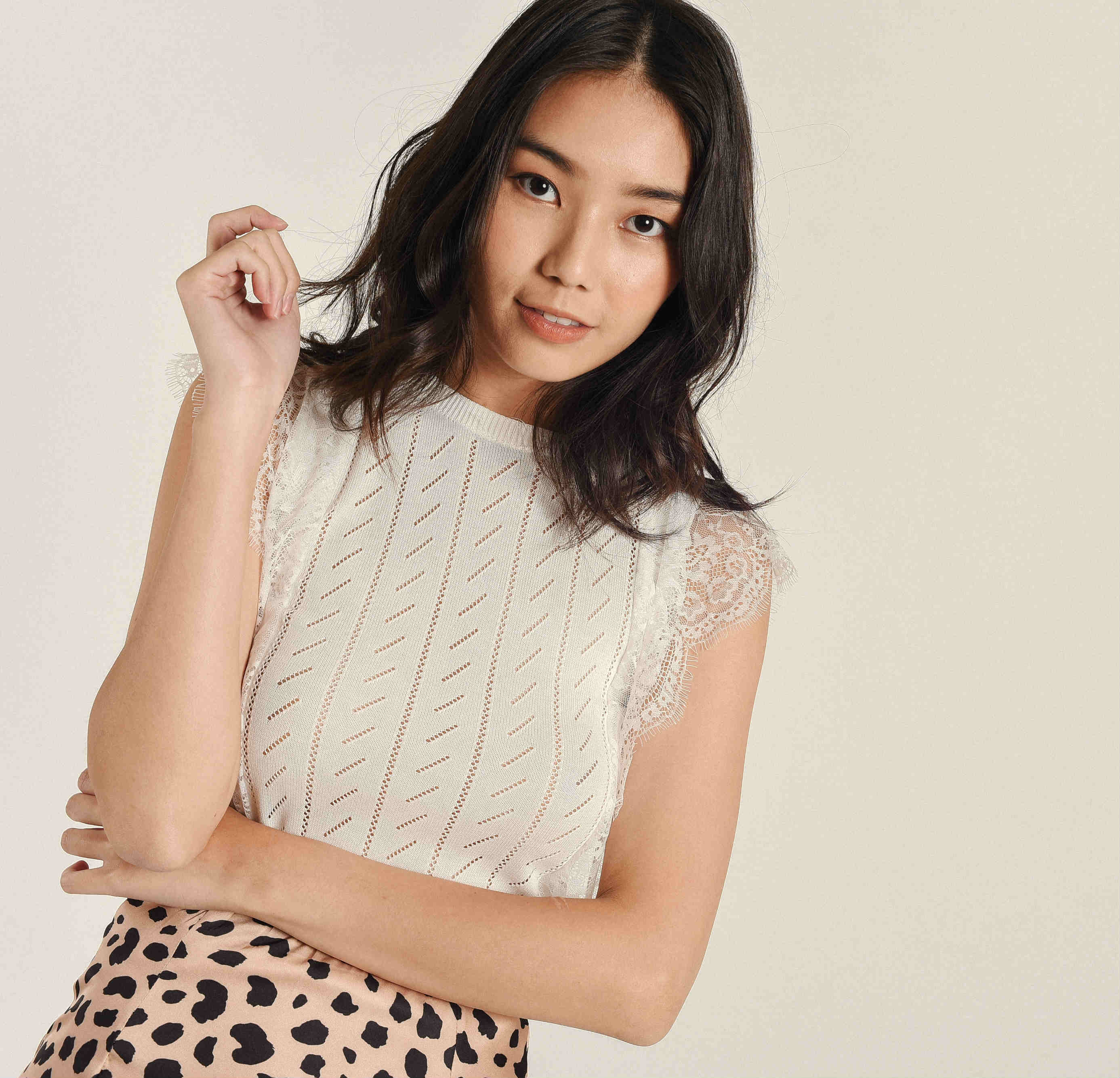 Sue Knitted Lace Top