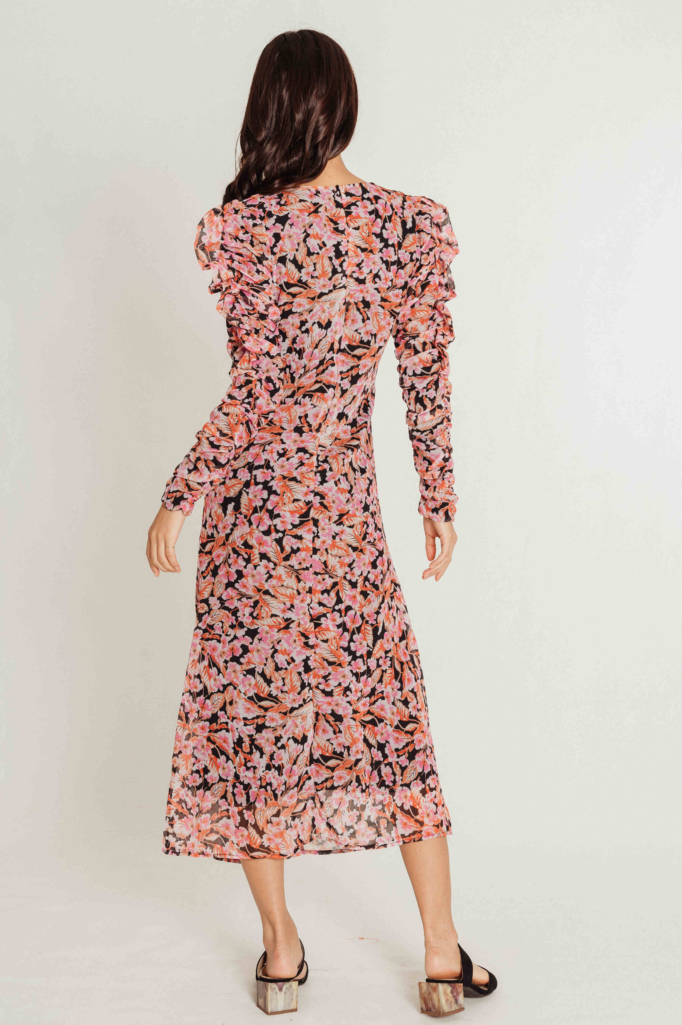 Kimmy Floral Puff Sleeve Dress