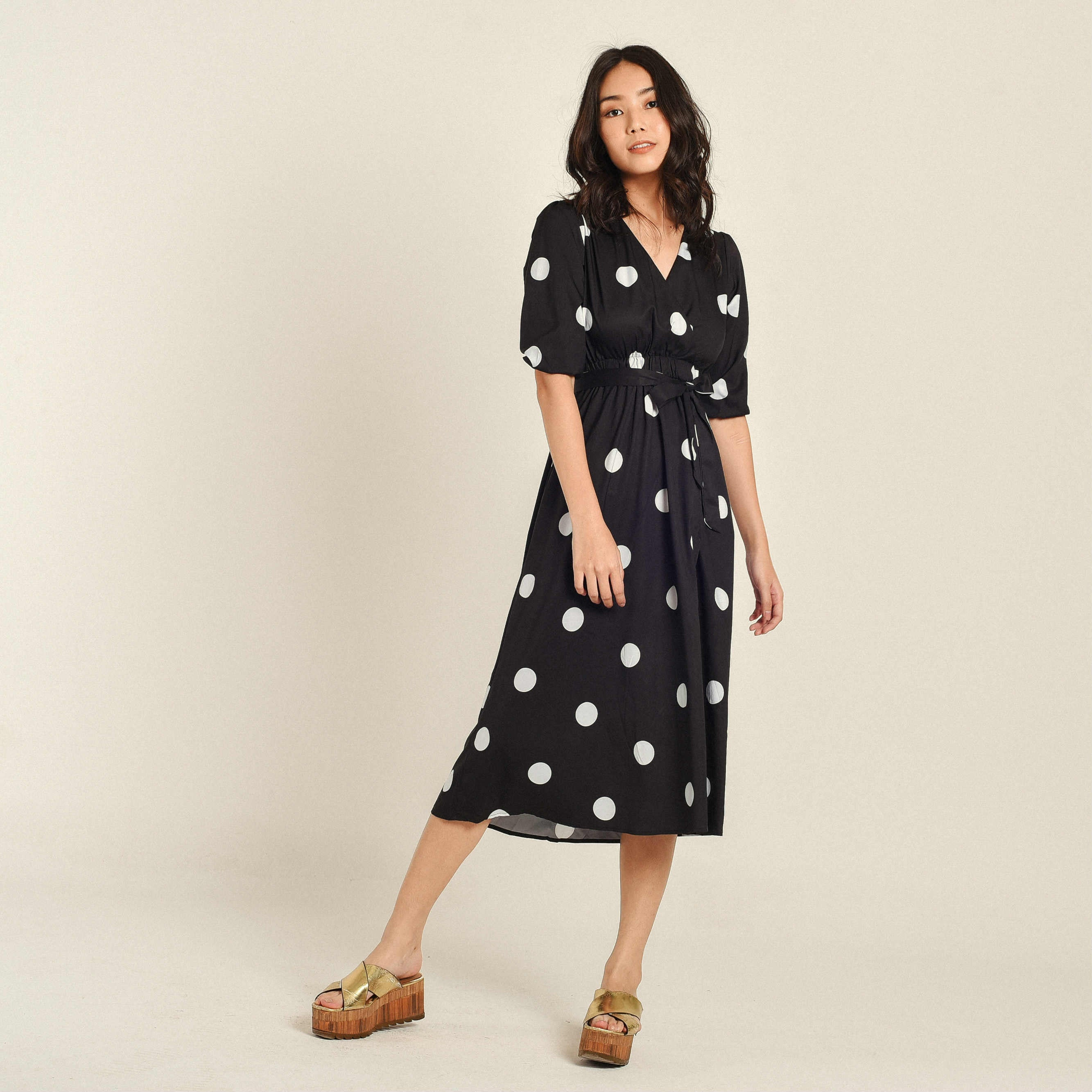 Esther Polka Black Dress