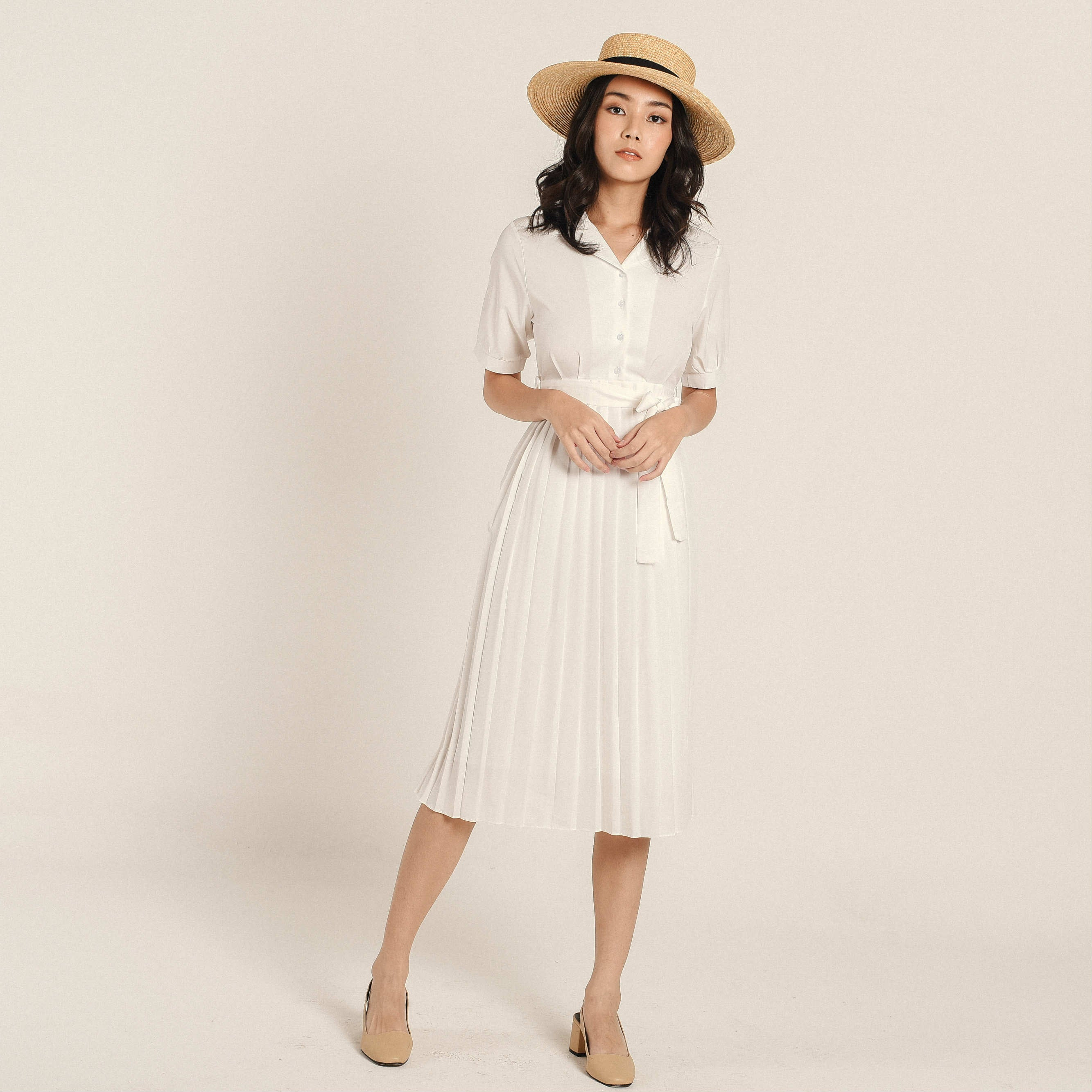 Irina Pleated Dress