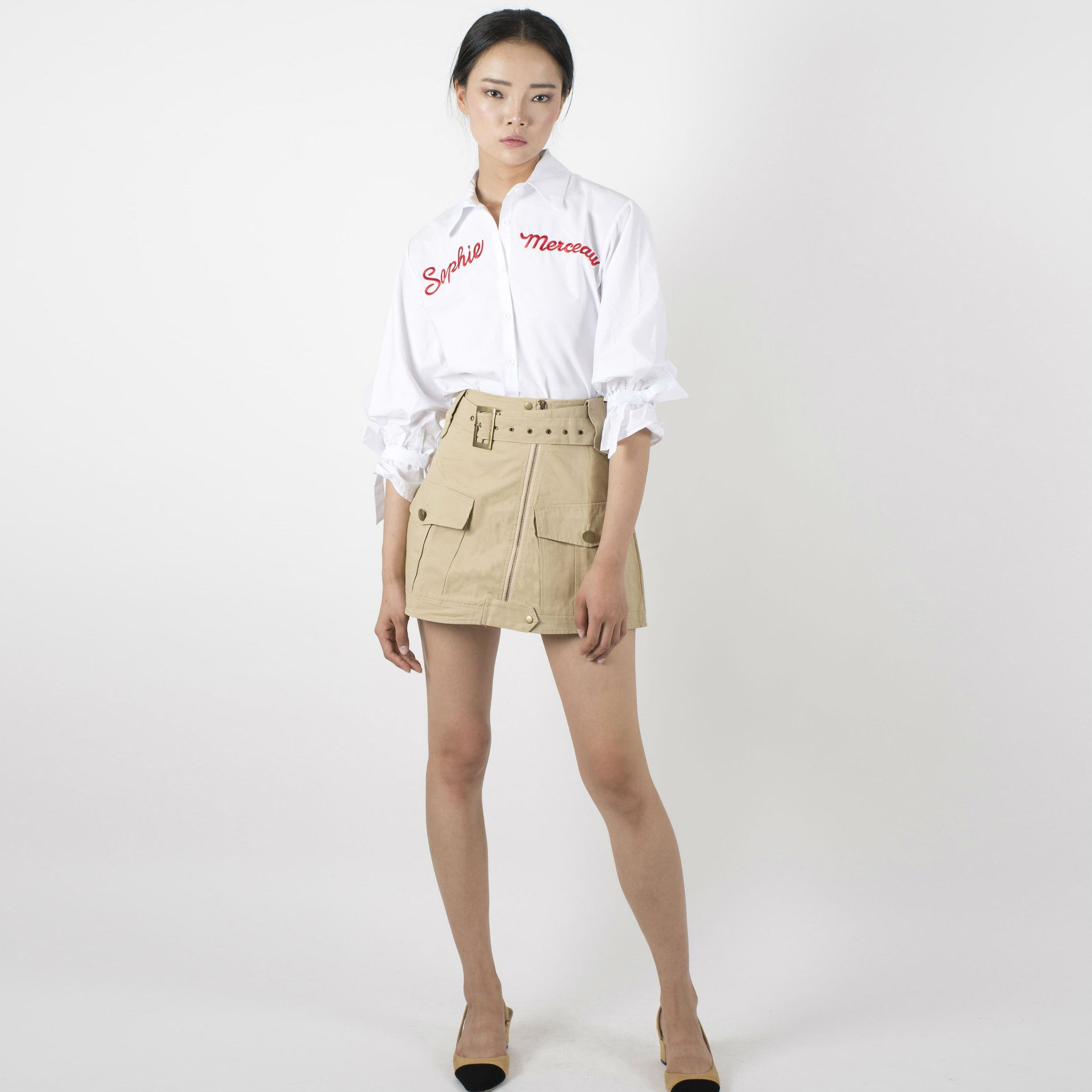 Joann Military Skirt - Khaki