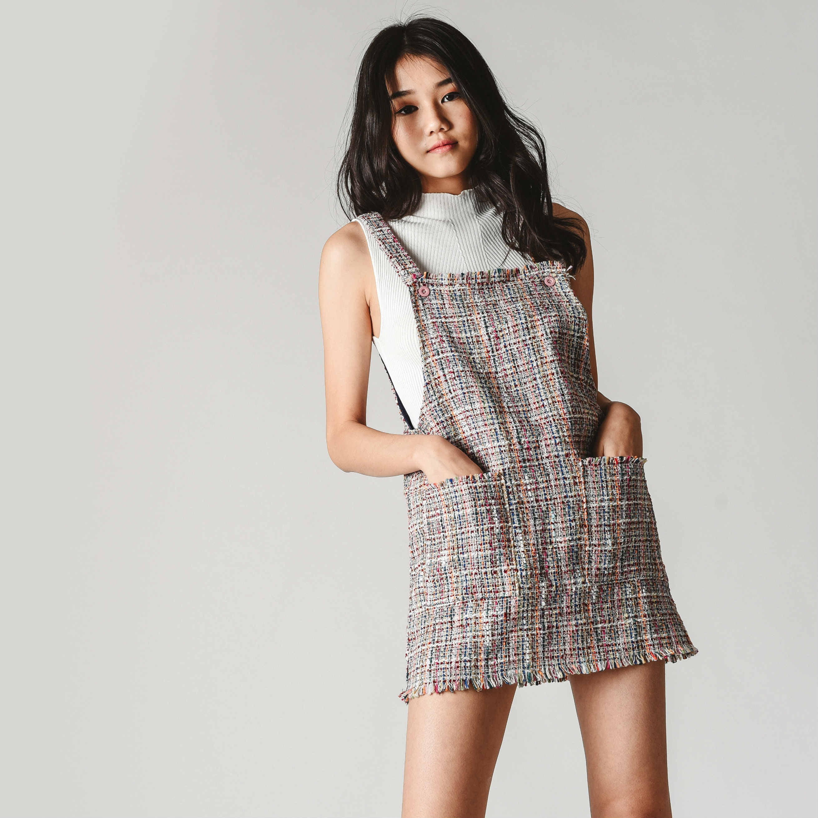 [BACKORDER] Beca Tweed Pinafore