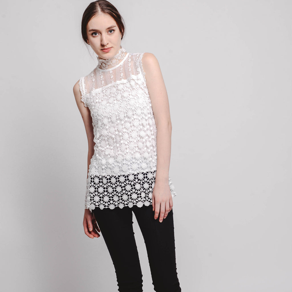 Suli Lace Top - White