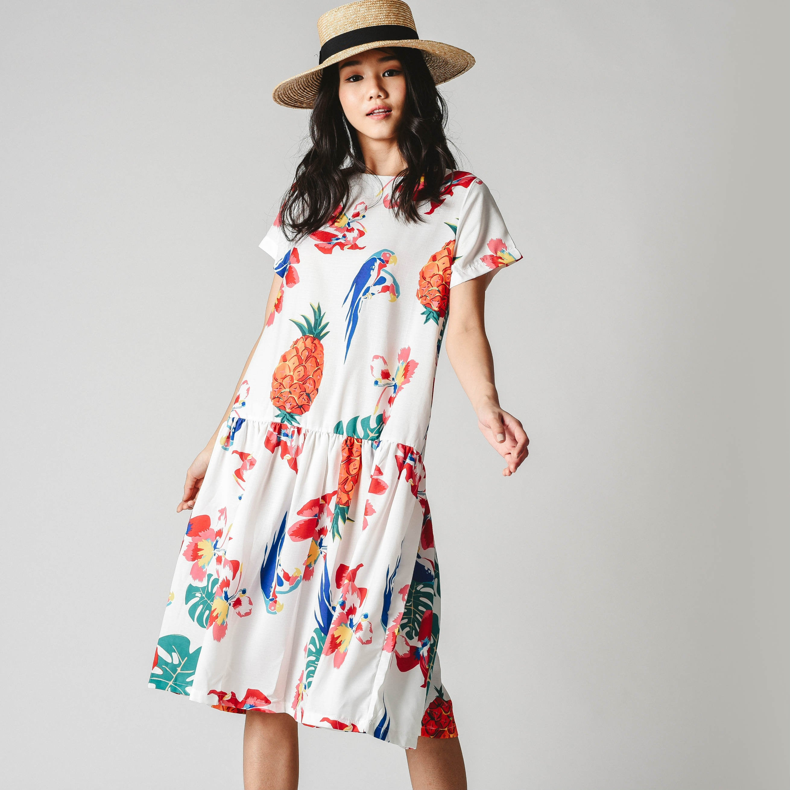 [BACKORDER] Evelyn Tropical Printed Dress