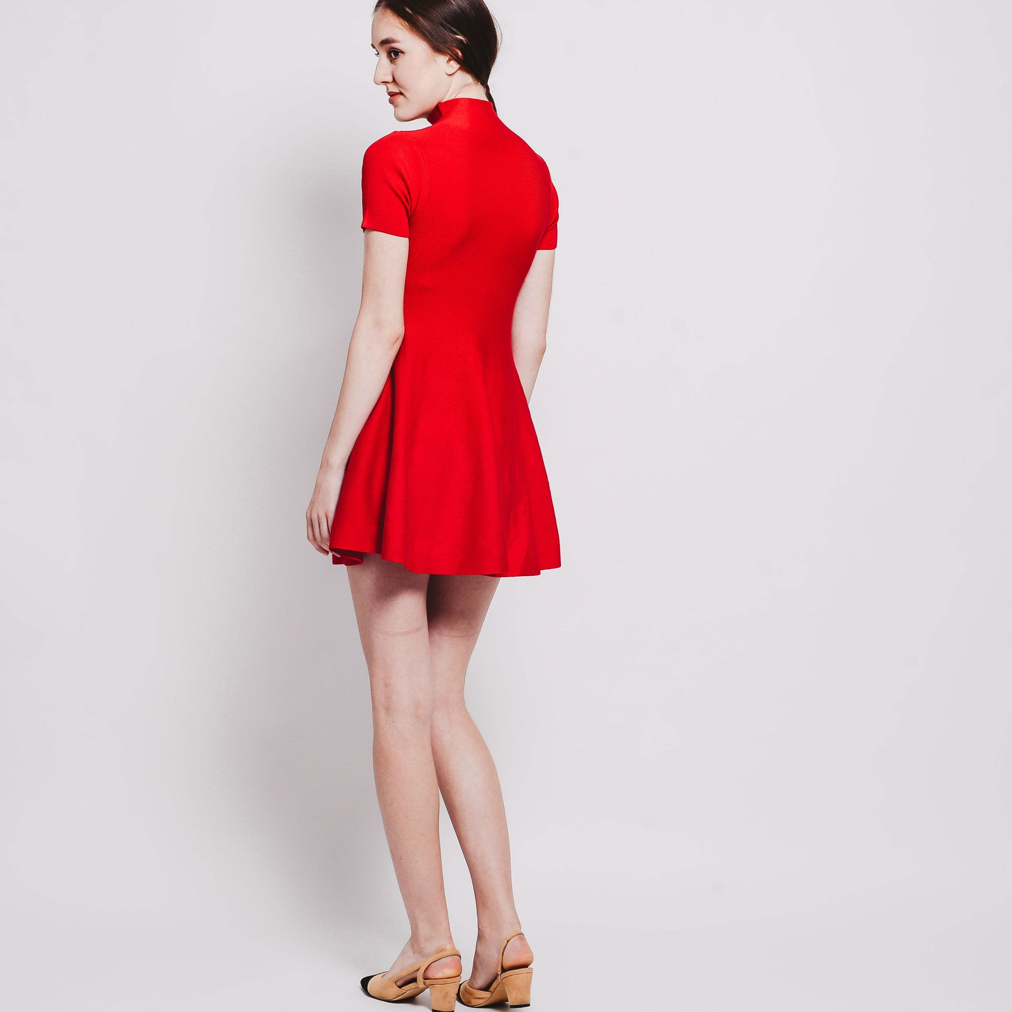 Tess Knitted Dress - Red