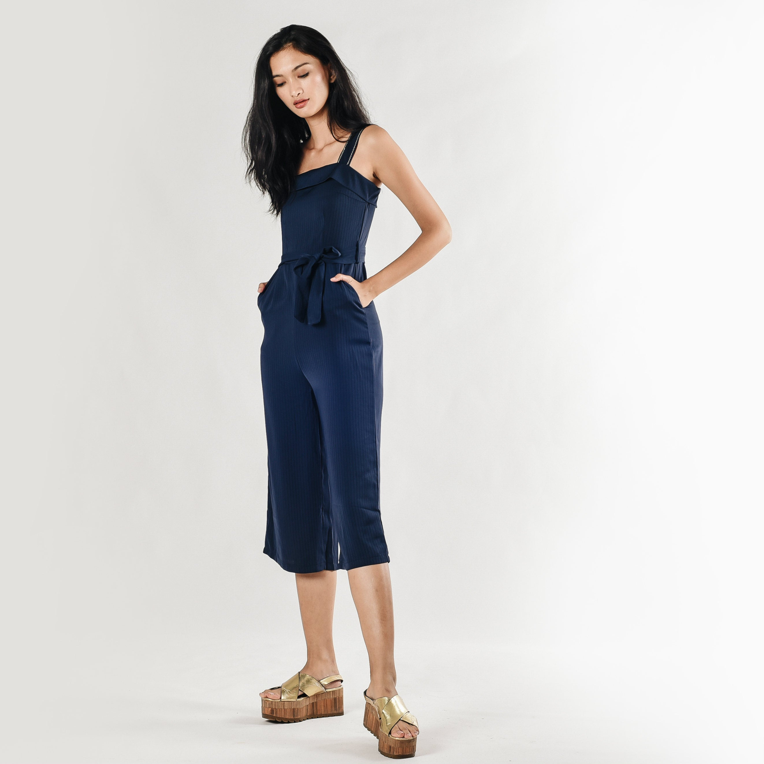 Yuna Navy Jumpsuit