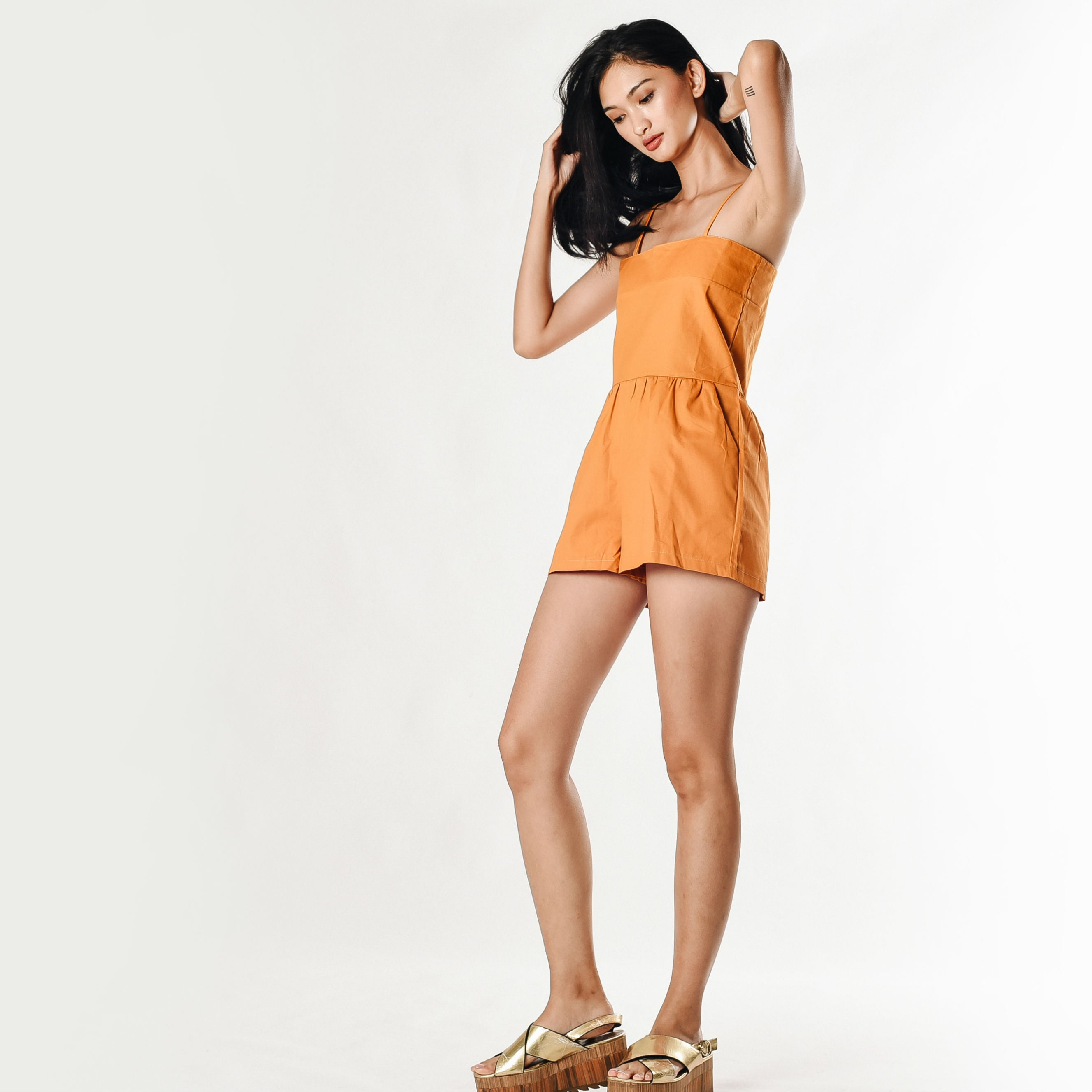 Issie Playsuit - Short Mustard