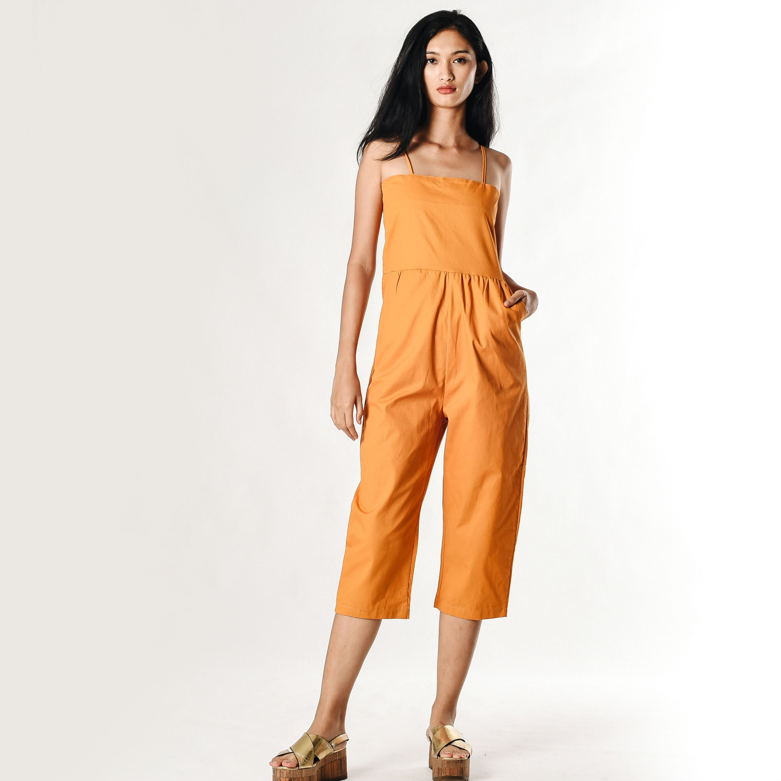 Issie Playsuit - Long Mustard