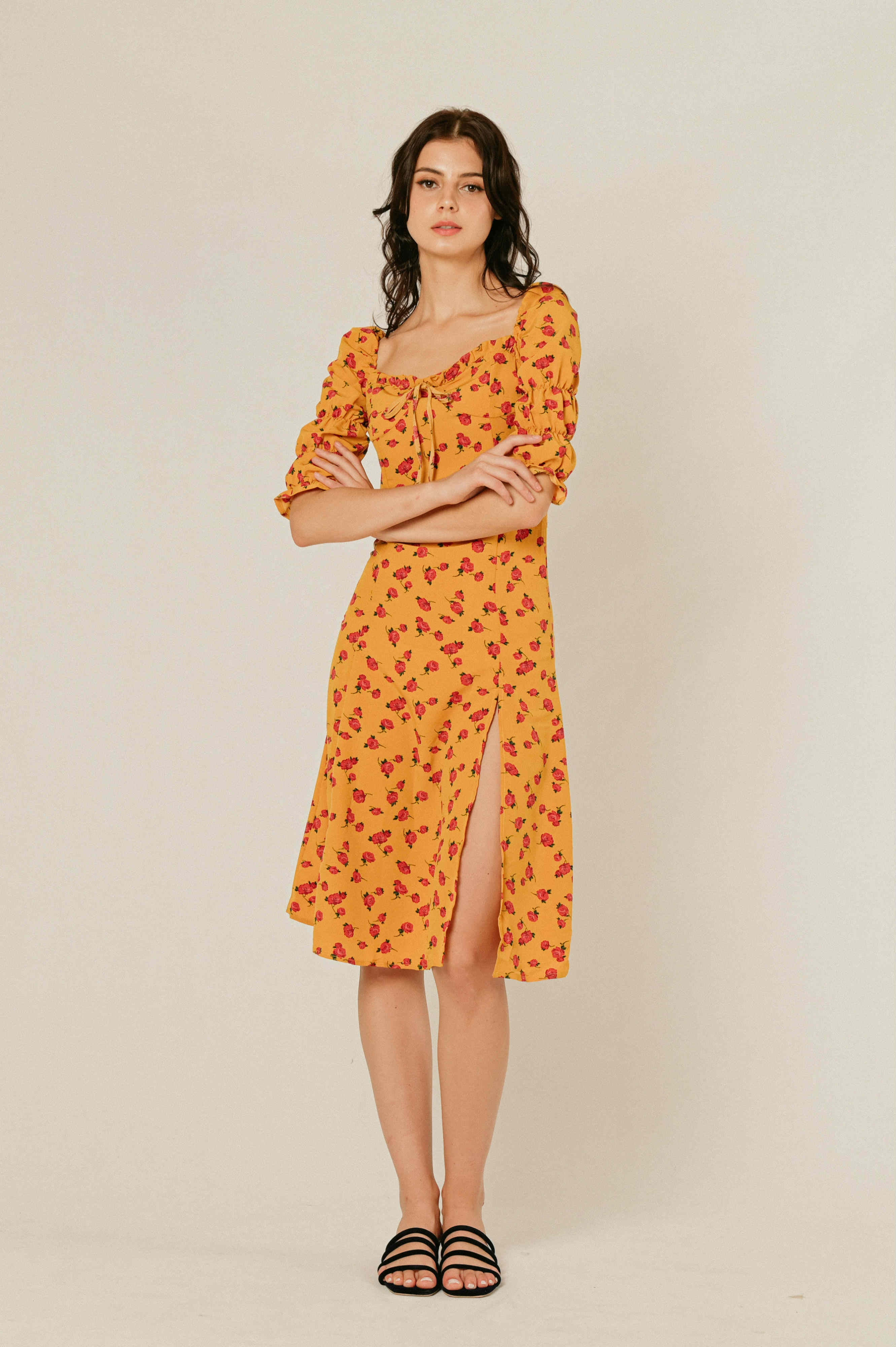 Trace Floral Dress