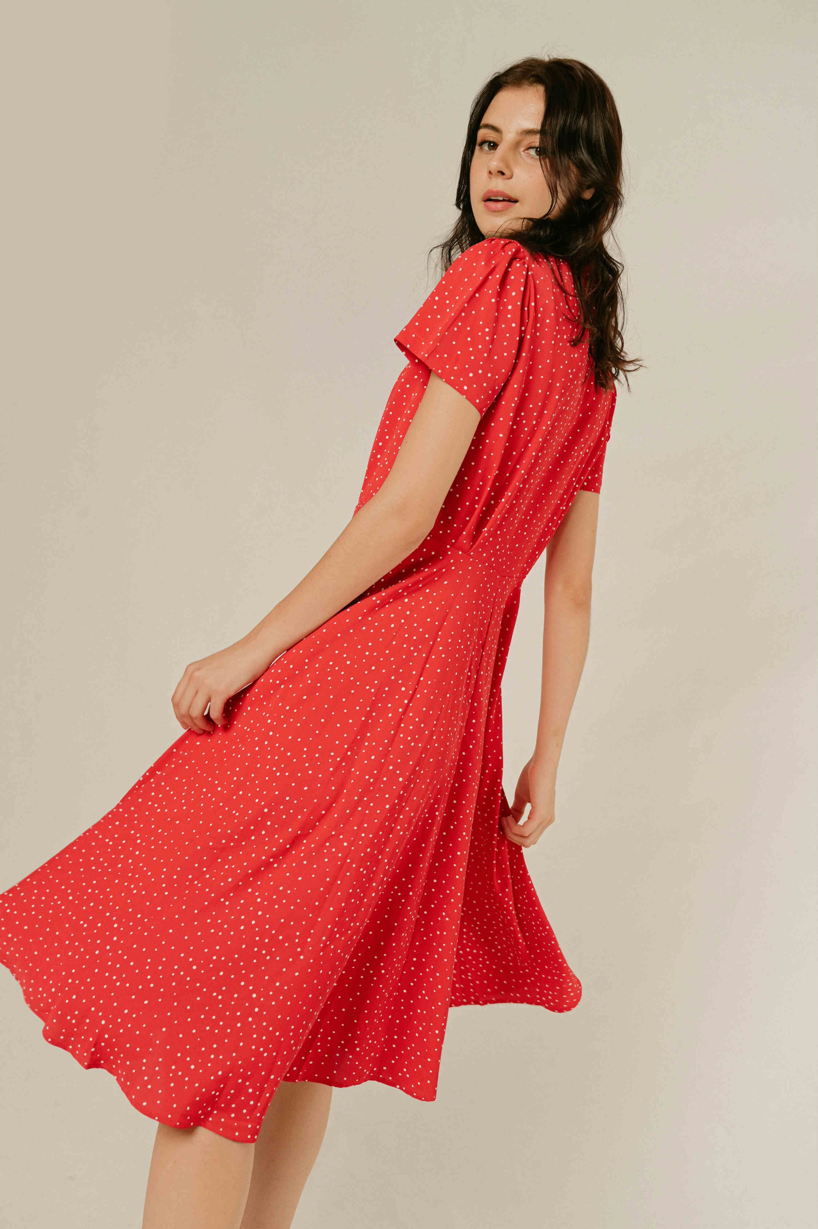 Katherine Polka Dress