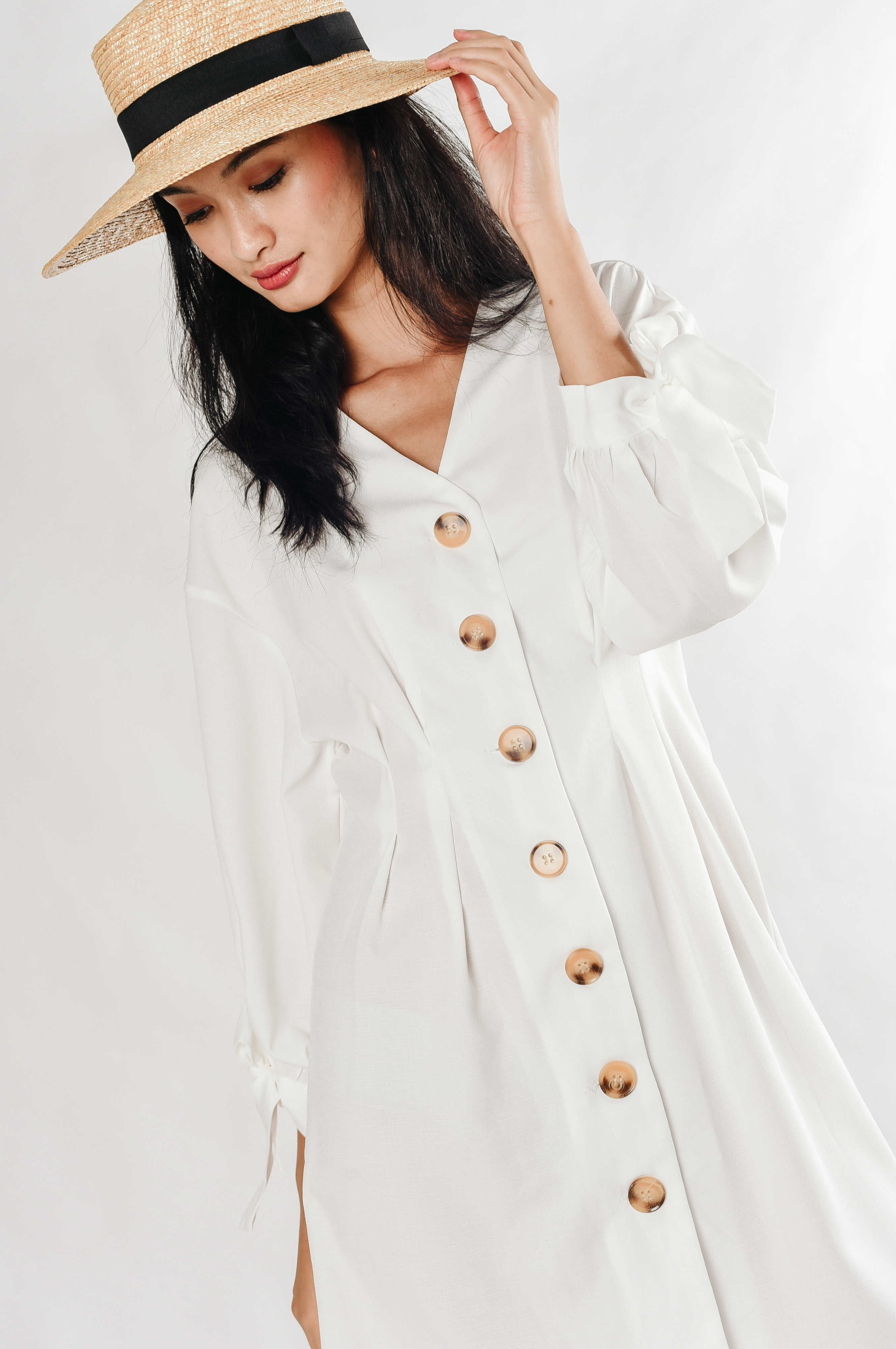 Feline Buttoned Dress