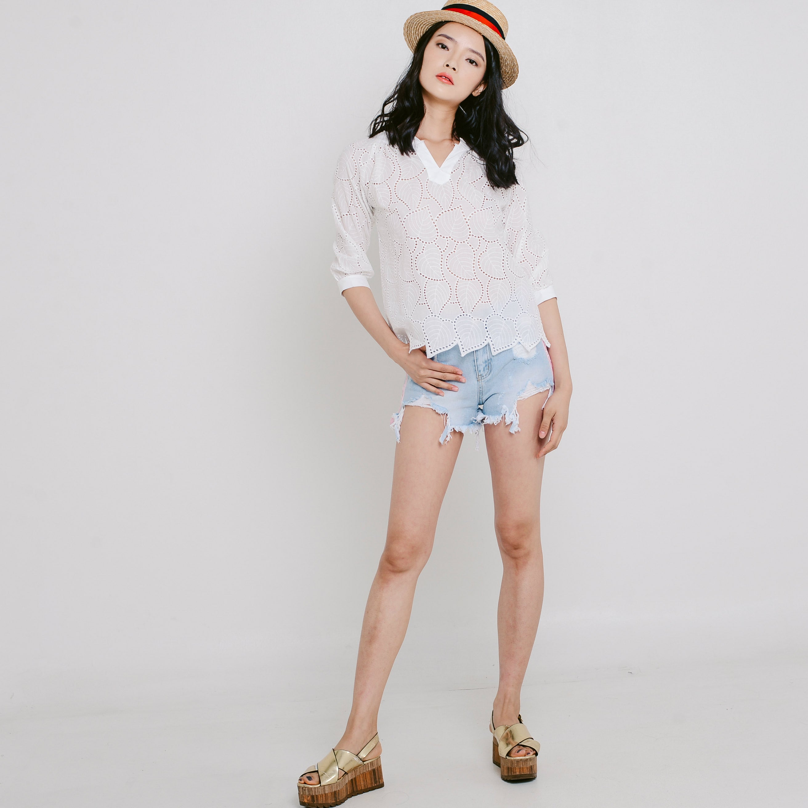 Adela Denim Shorts