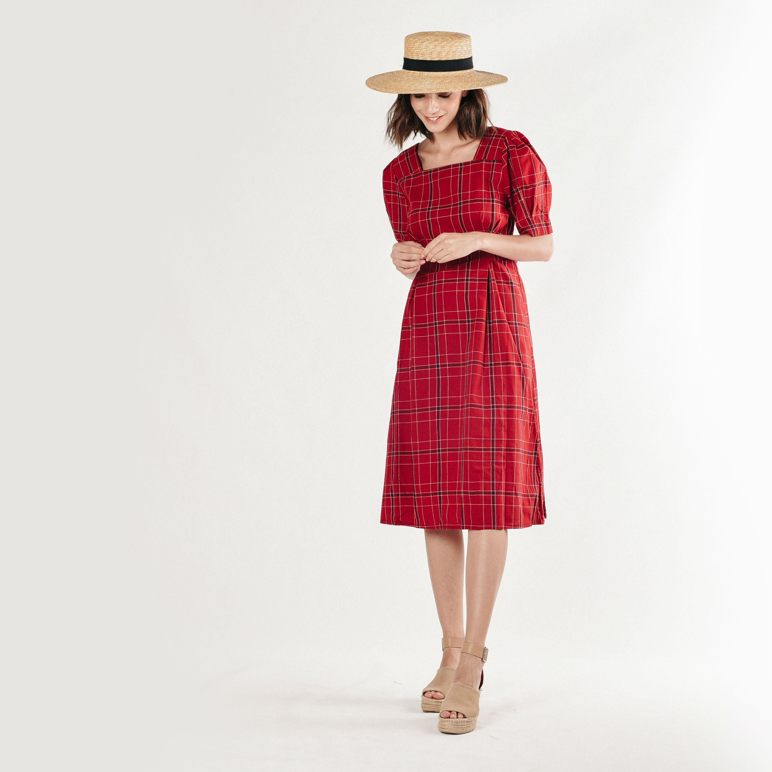Dianna Checked Dress