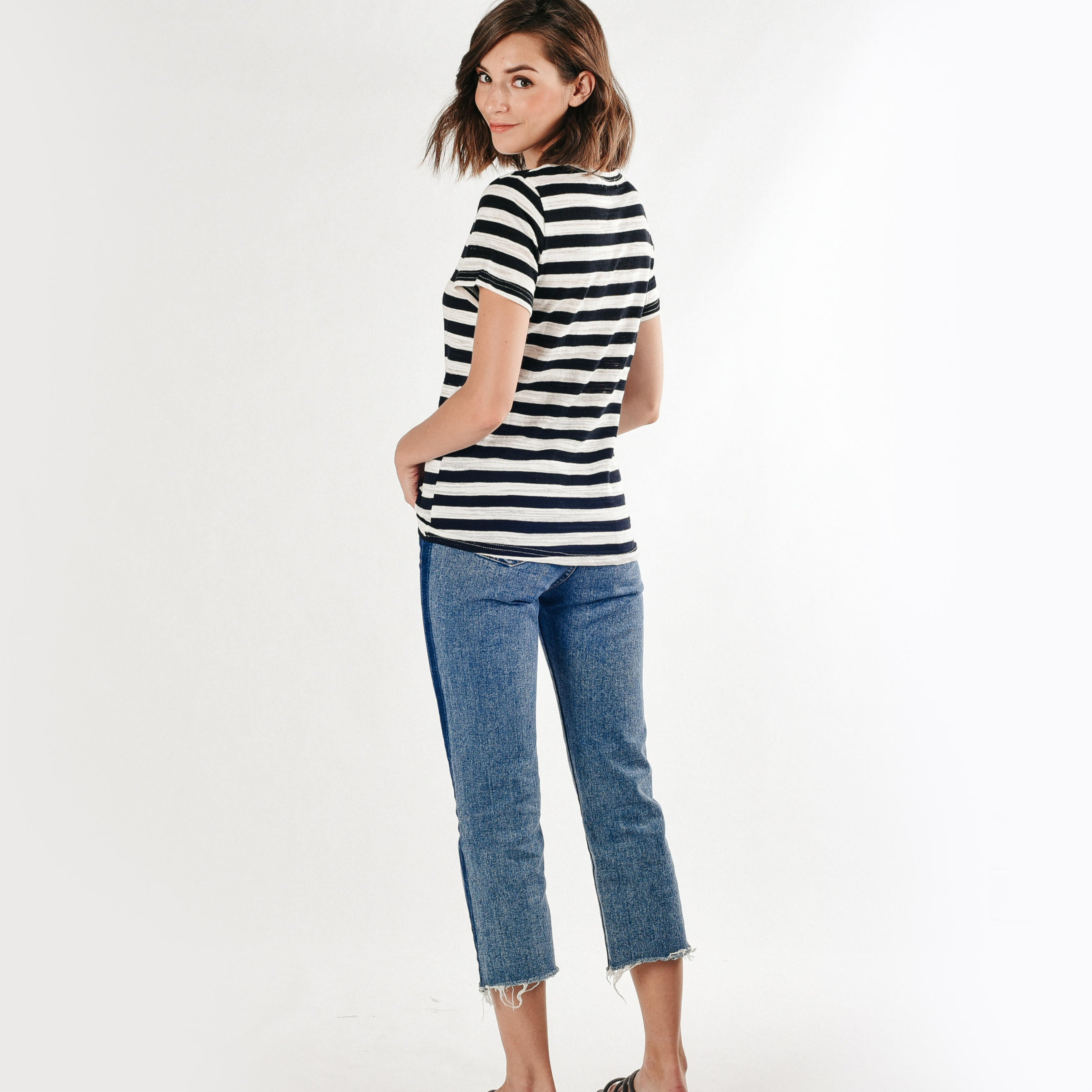 Bea Lips Tee - Stripes