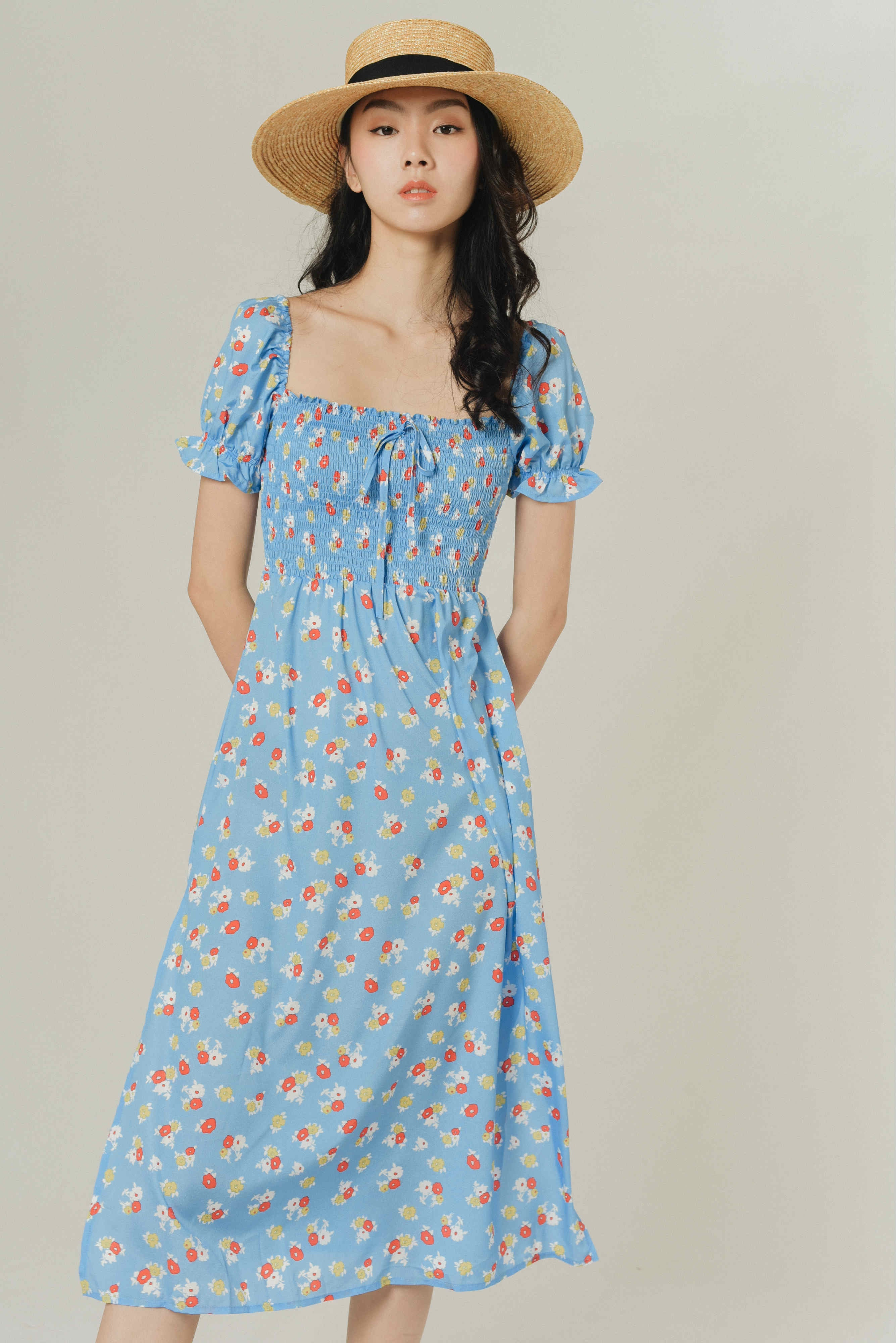 Zoey Puff Sleeves Dress