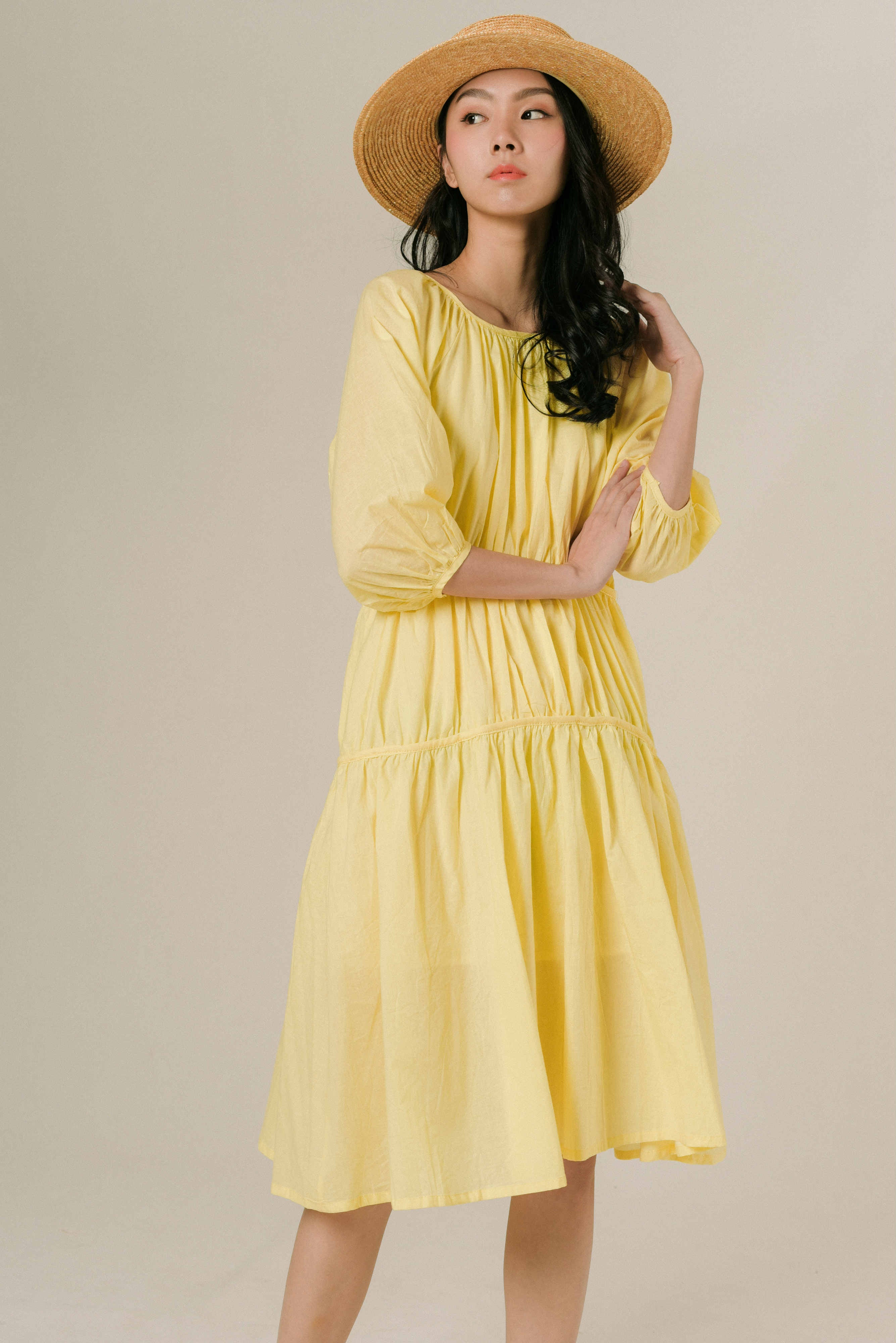 Yolinda Tie Dress - Yellow