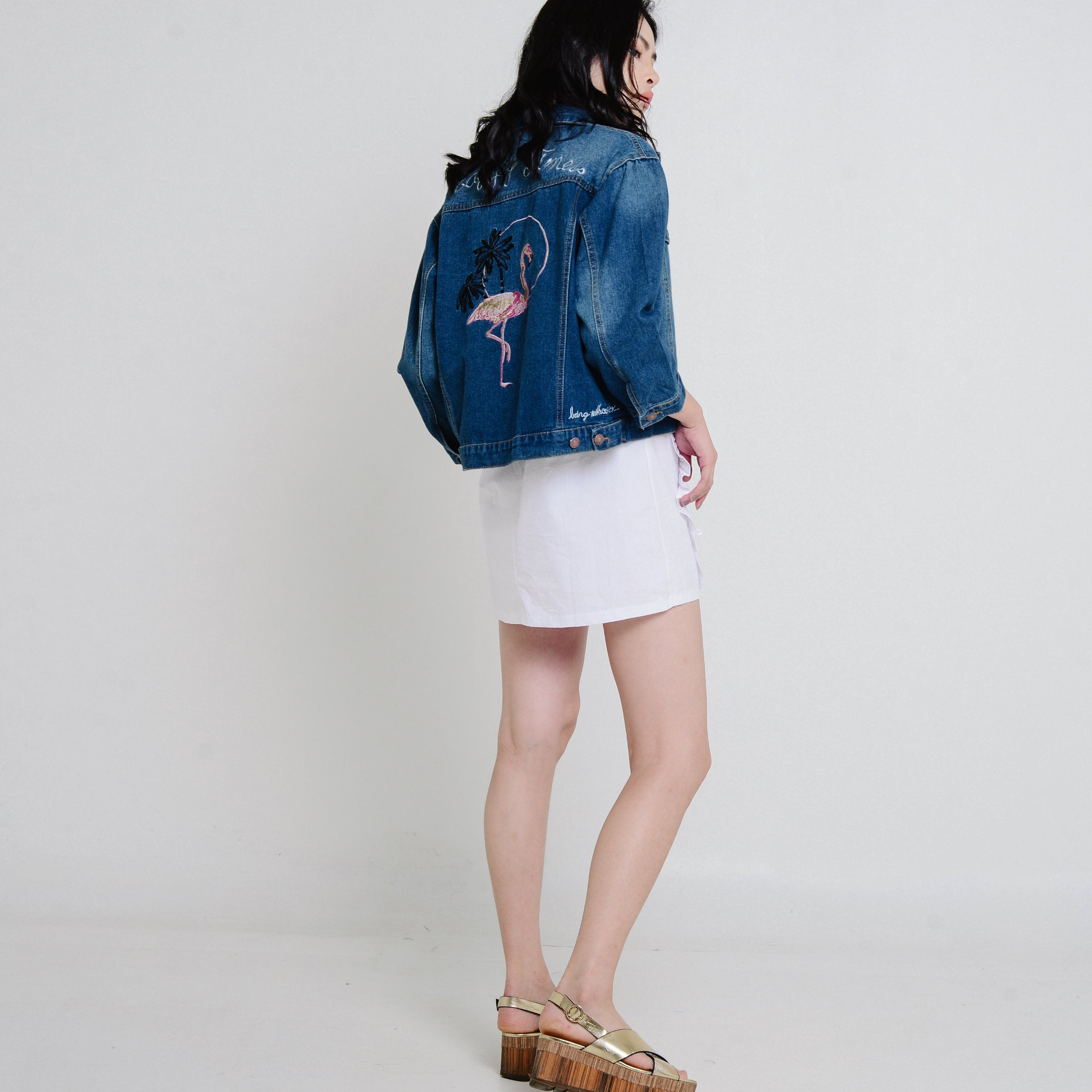 Ciel Flamingo Denim Jacket