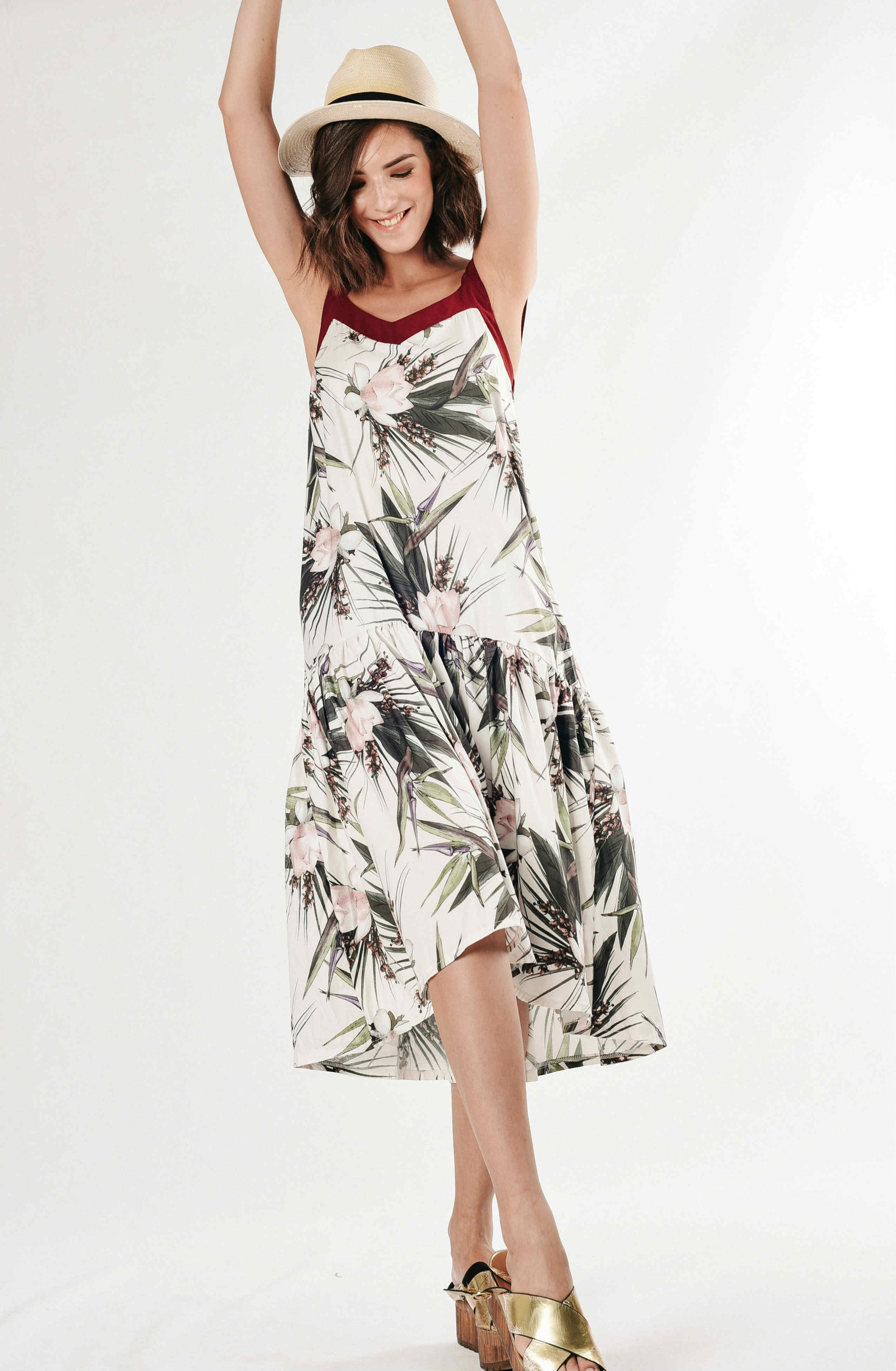 Fenny Tropical Maxi Dress