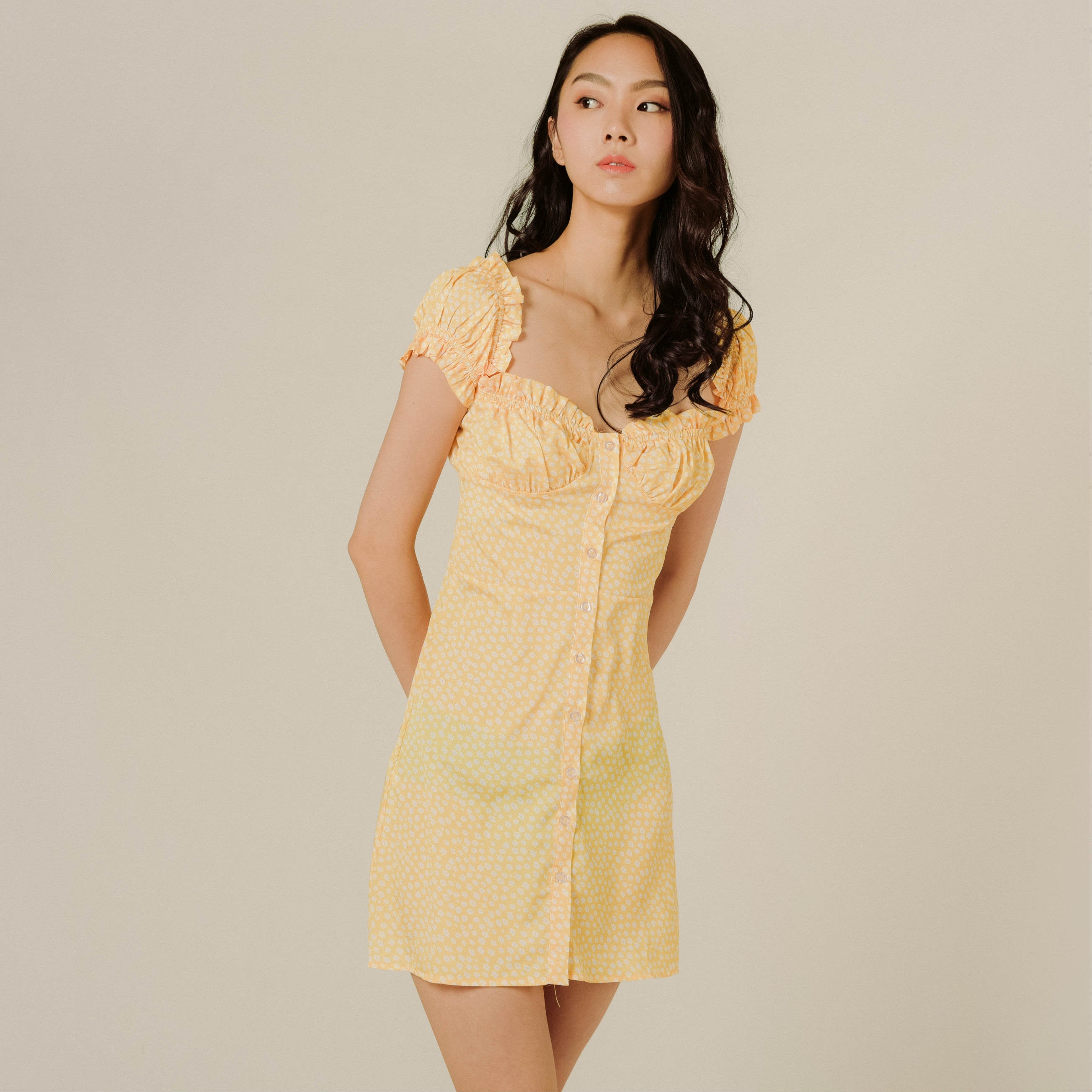 Rosie Buttoned Heart Dress