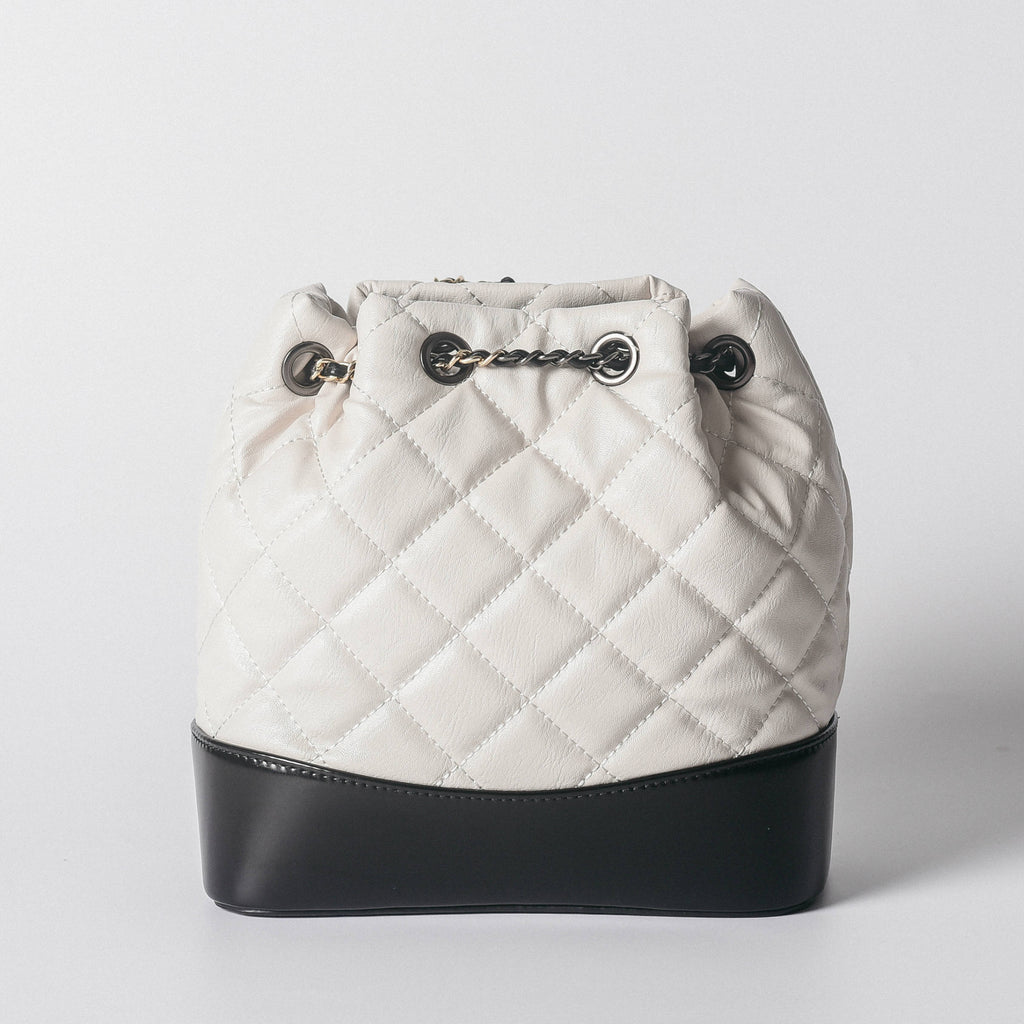 Daniella Quilted Backpack - White