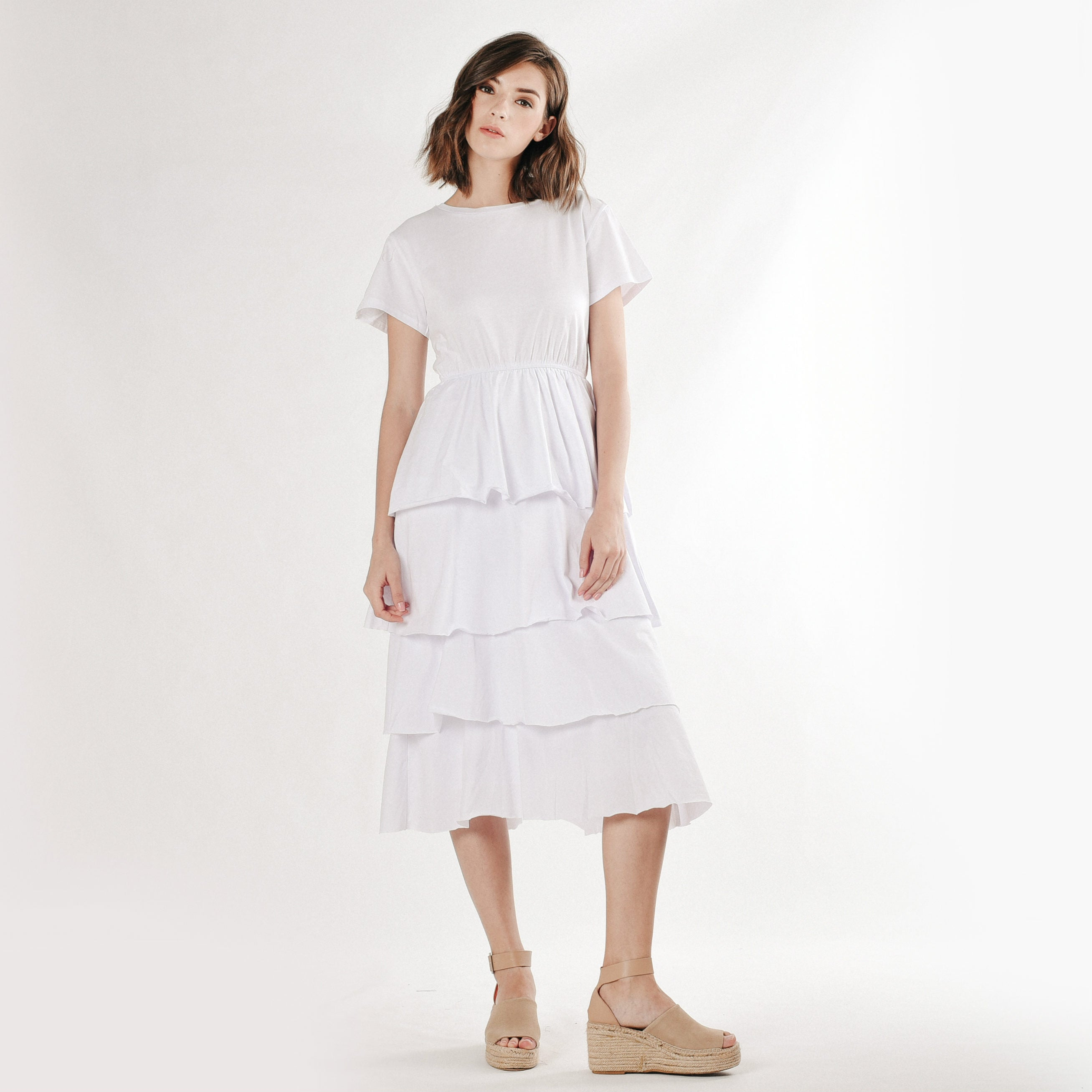 Pearlyn Layered Dress - White