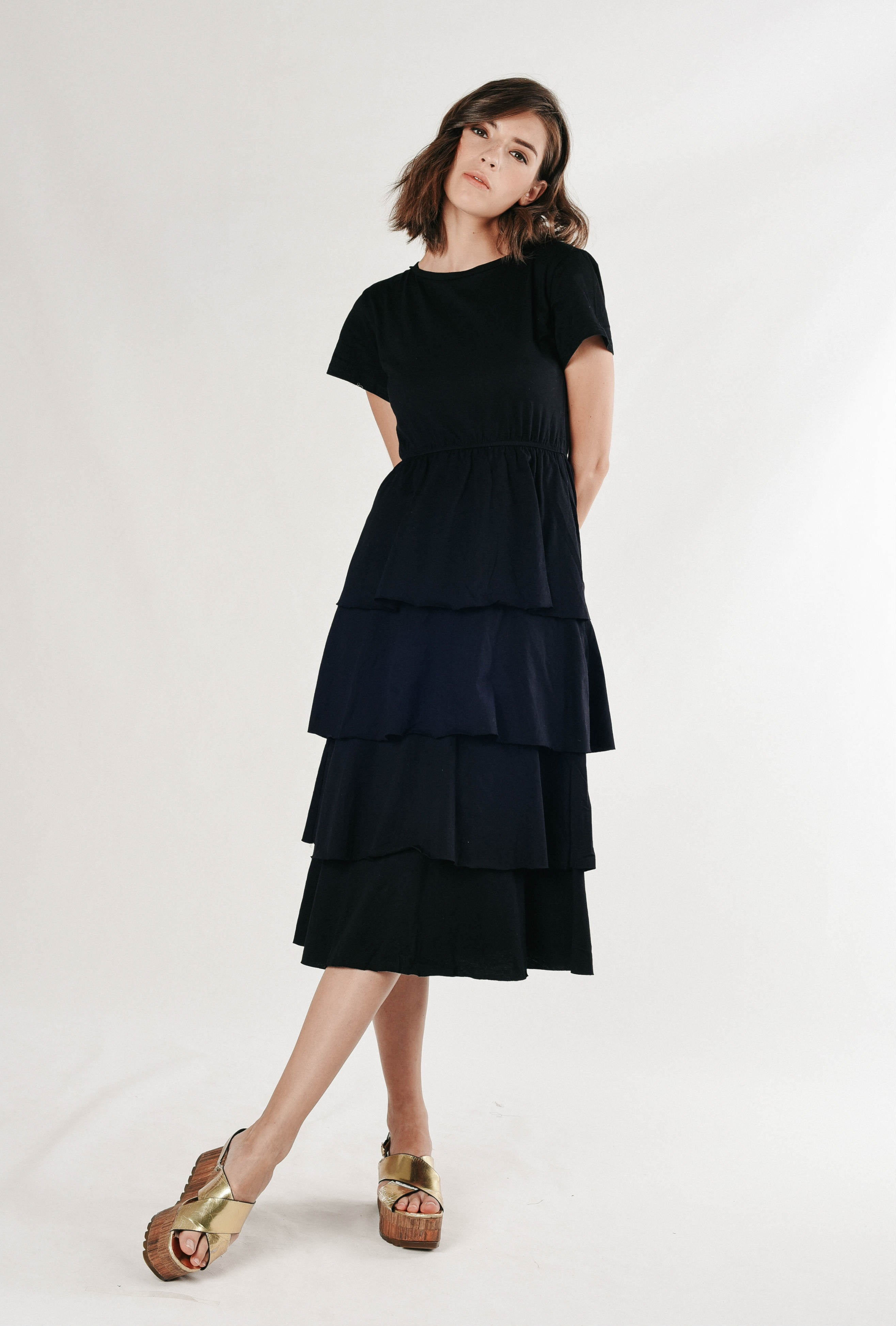 Pearlyn Layered Dress - Black